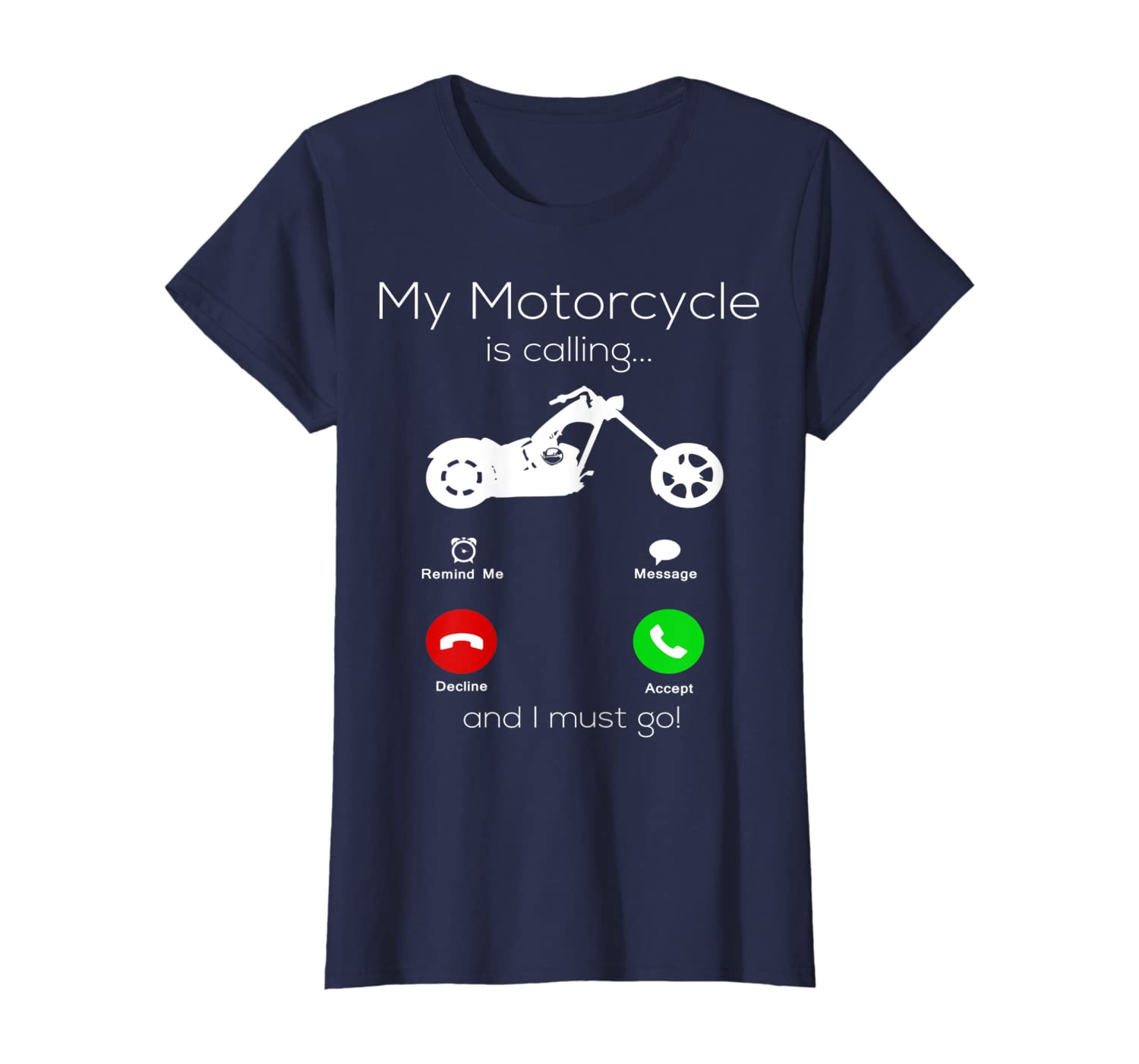 Motorcycle Gifts For Men My Motorcycle Is Calling Biker T-Shirt
