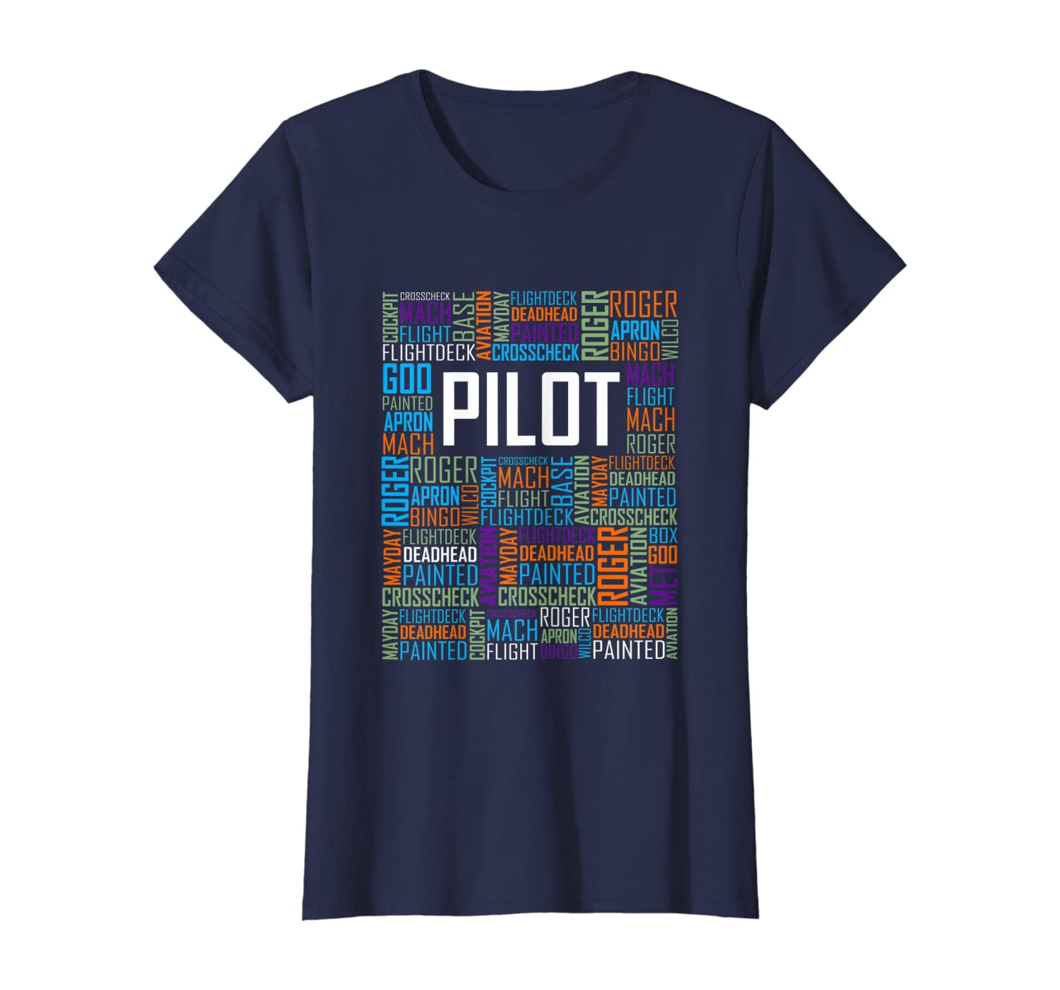 Airplane Pilot Words Love Gift Plane Lover Enthusiast  T-Shirt