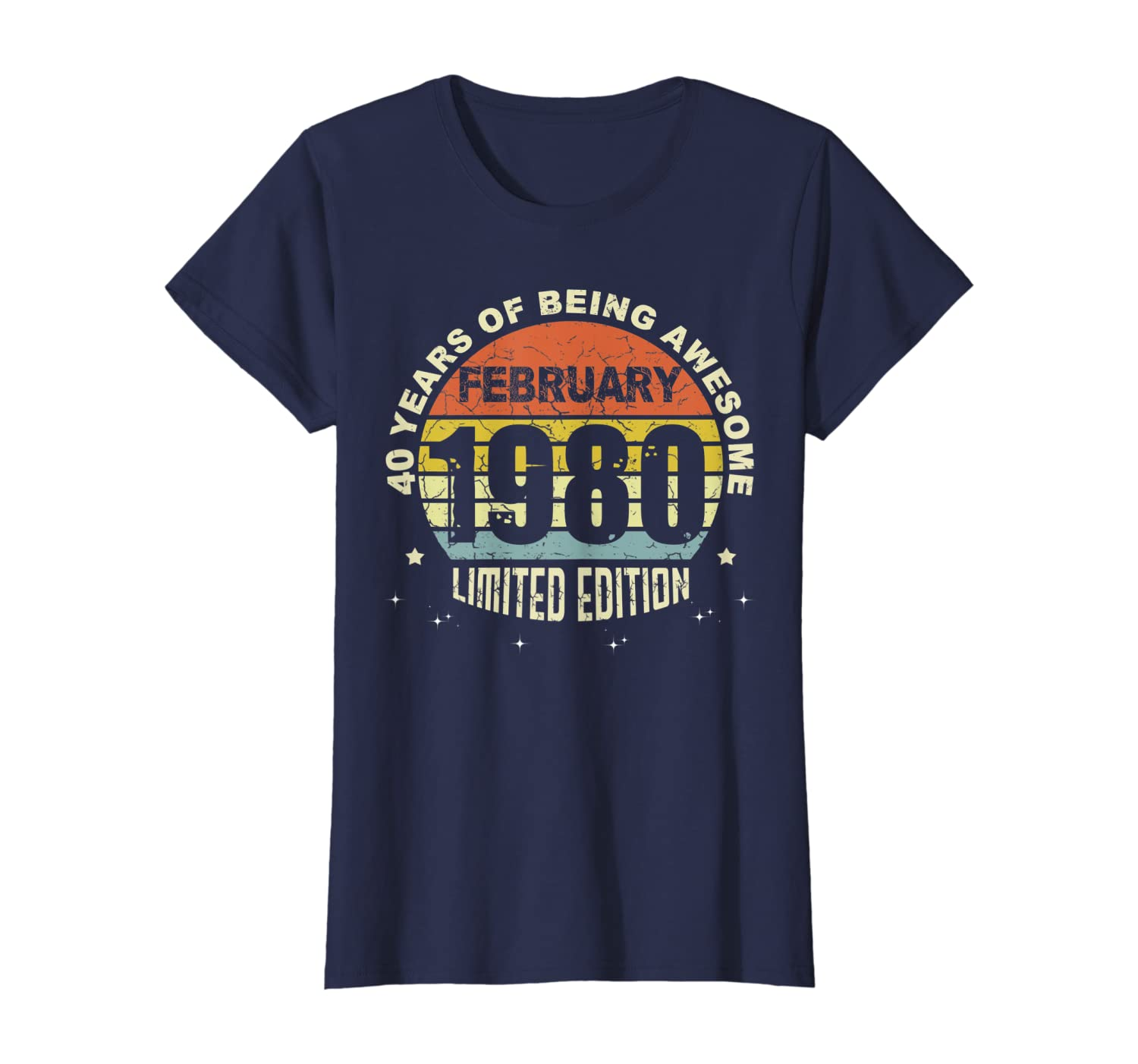 40 limited edition, Made in February 1980 40th Birthday T-Shirt