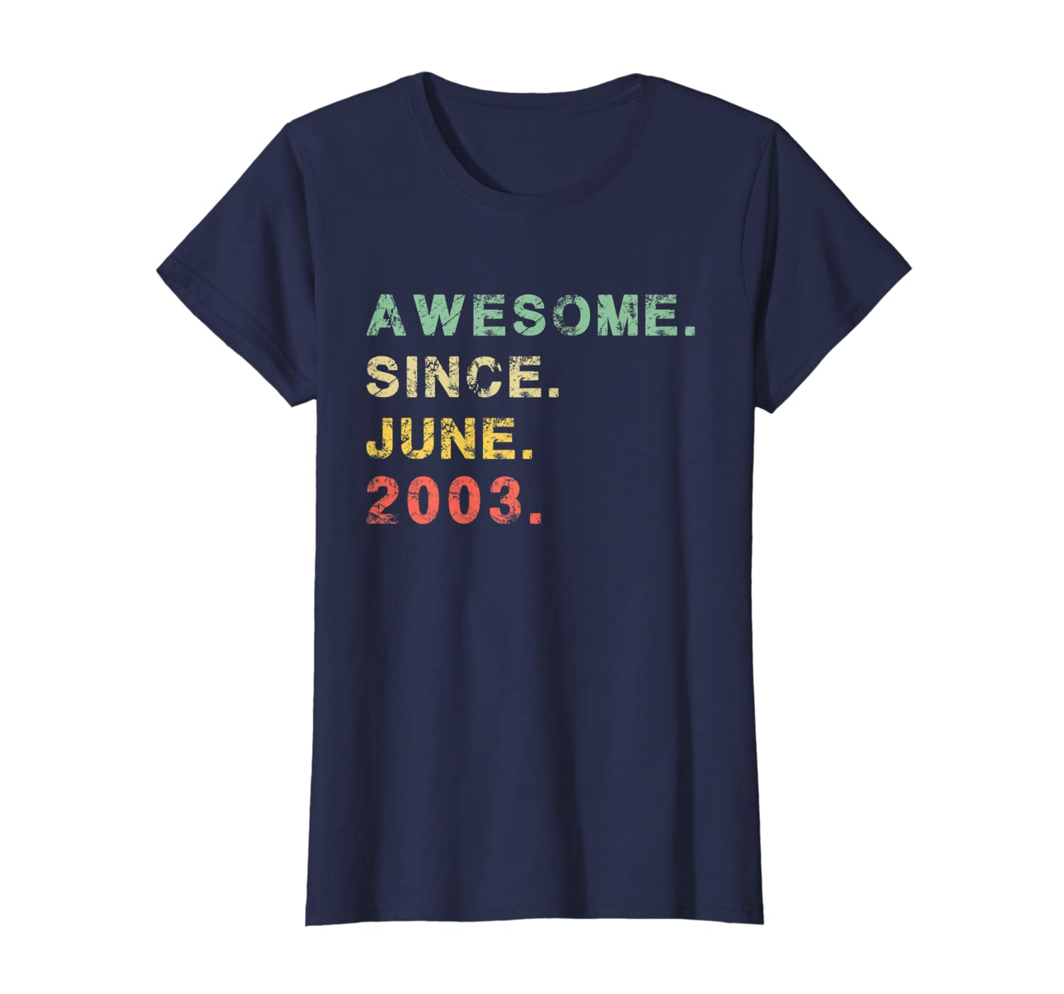 Awesome Since June 2003 T-Shirt Vintage 16th Birthday Gifts-Loveshirt