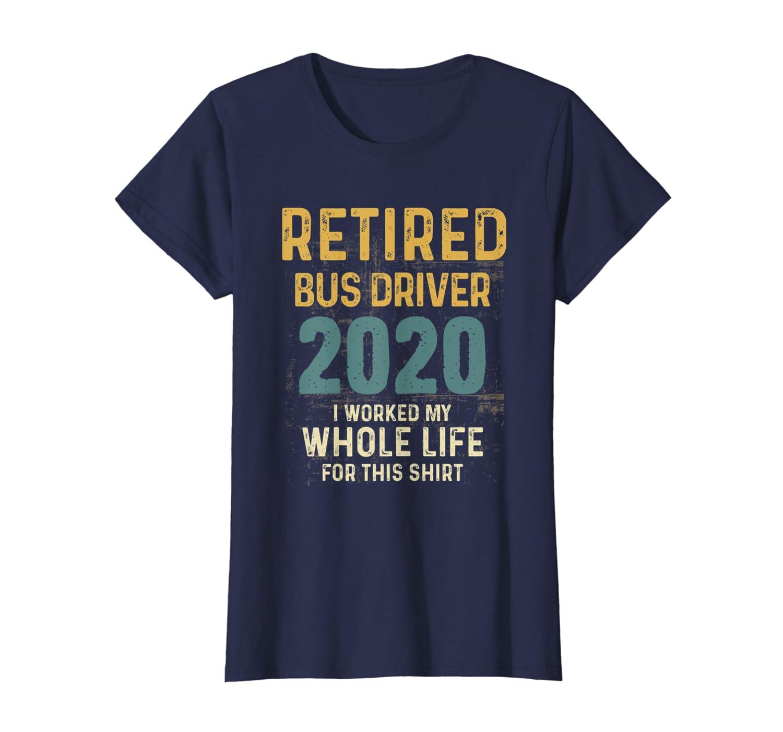 Retired Bus Driver 2020 Retirement Announcement Vintage T-Shirt