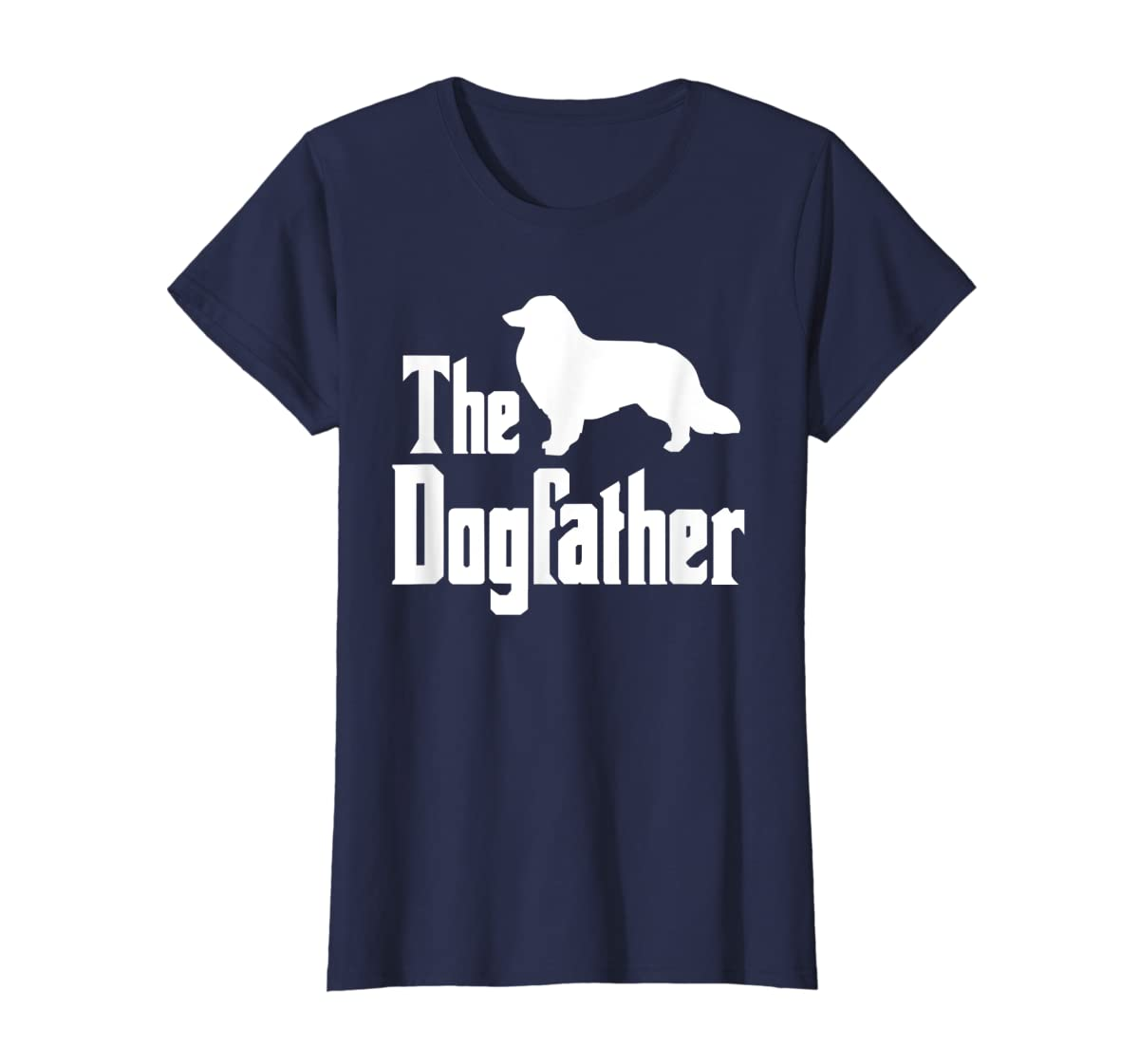 The Dogfather - funny Rough Collie T-Shirt, funny dog gift-Women's T-Shirt-Navy