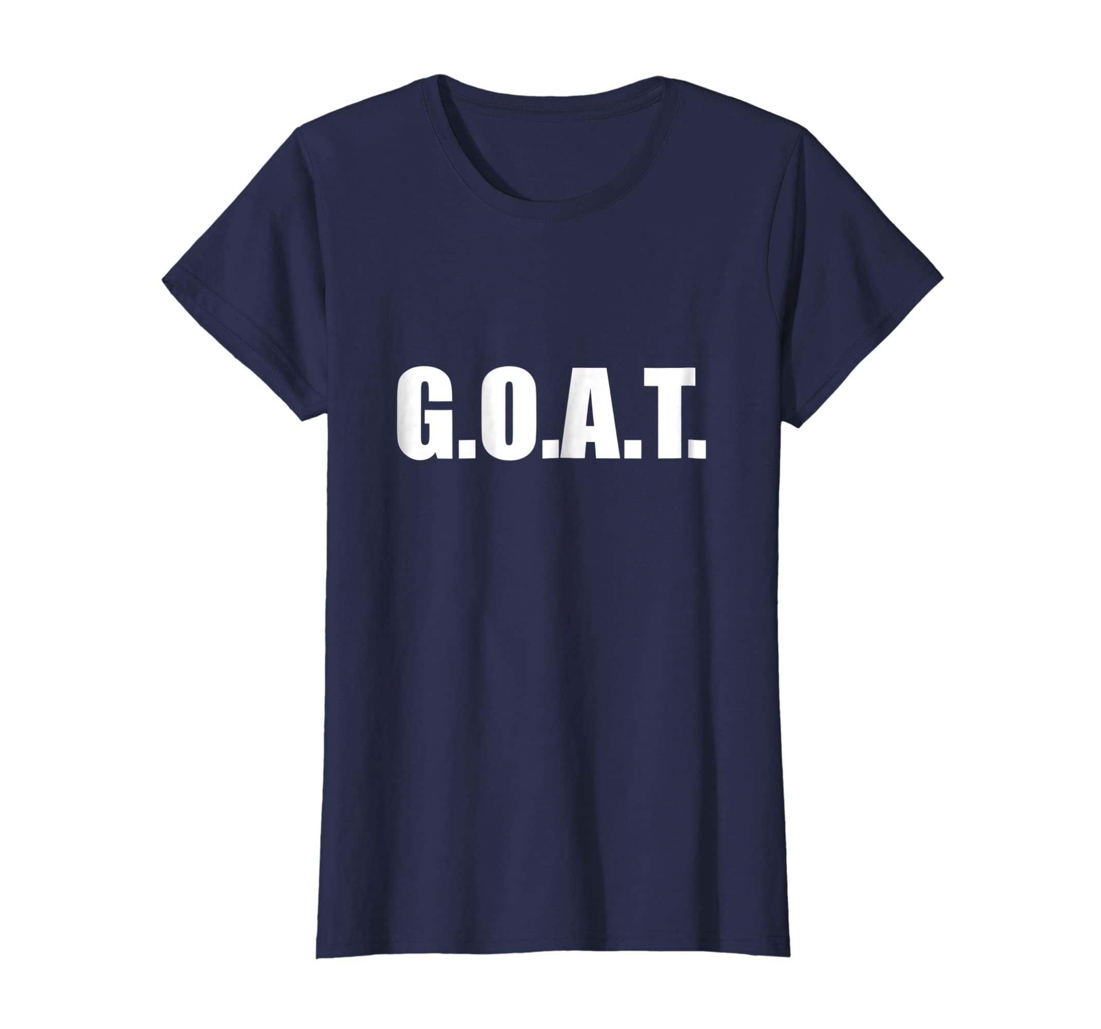 d8034432479 Amazon.com  Greatest of all Time GOAT T-Shirt  Clothing