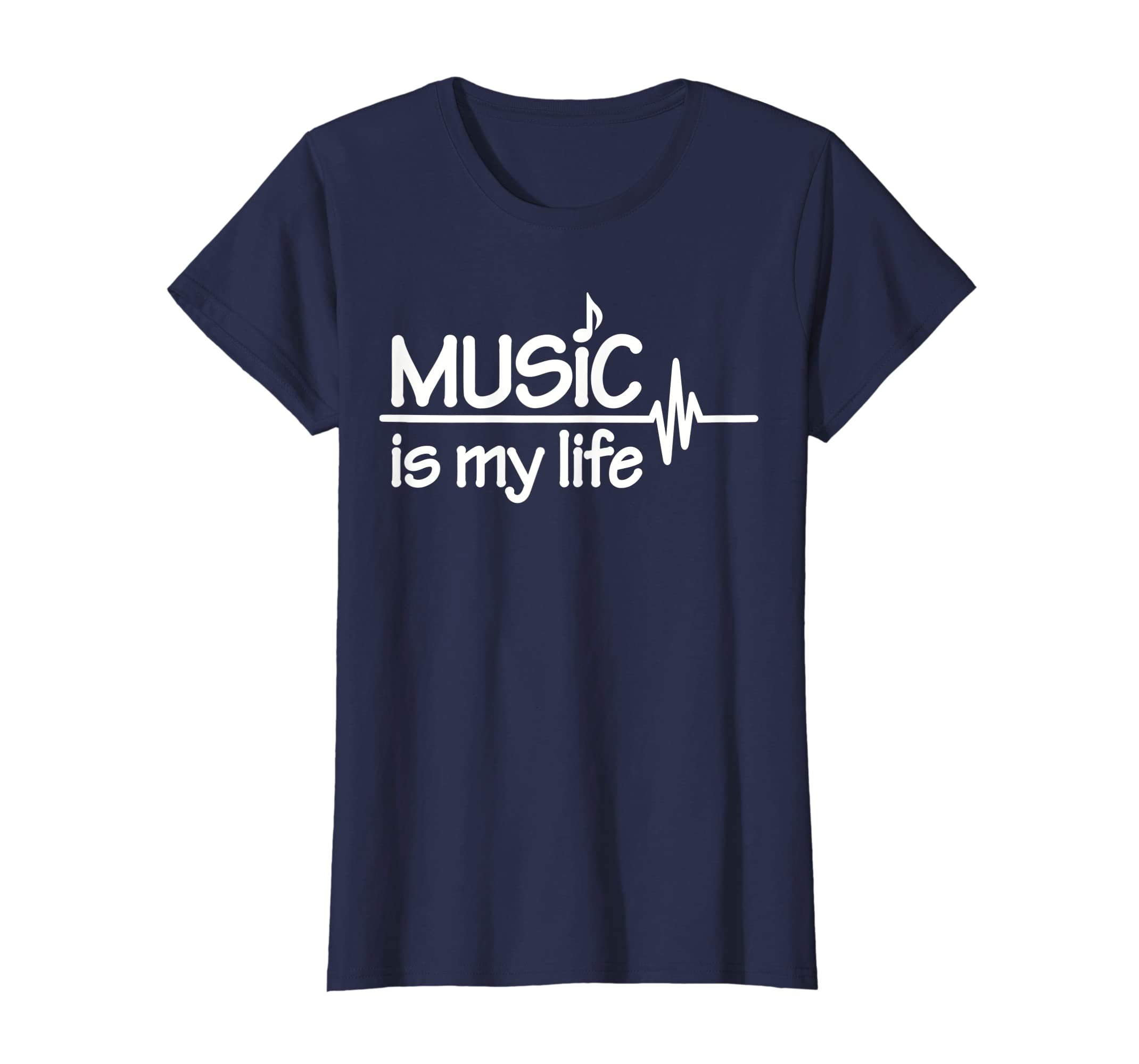 6e81ba5a Amazon.com: Music is my life T-Shirt: Clothing