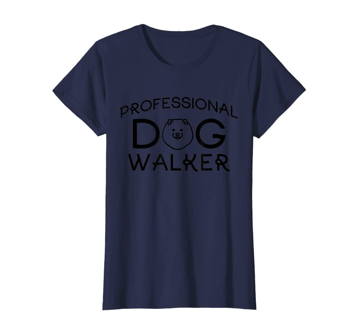 Professional Dog Walker Cute Puppy Tshirt Pet Lover T-Shirt-Women's T-Shirt-Navy