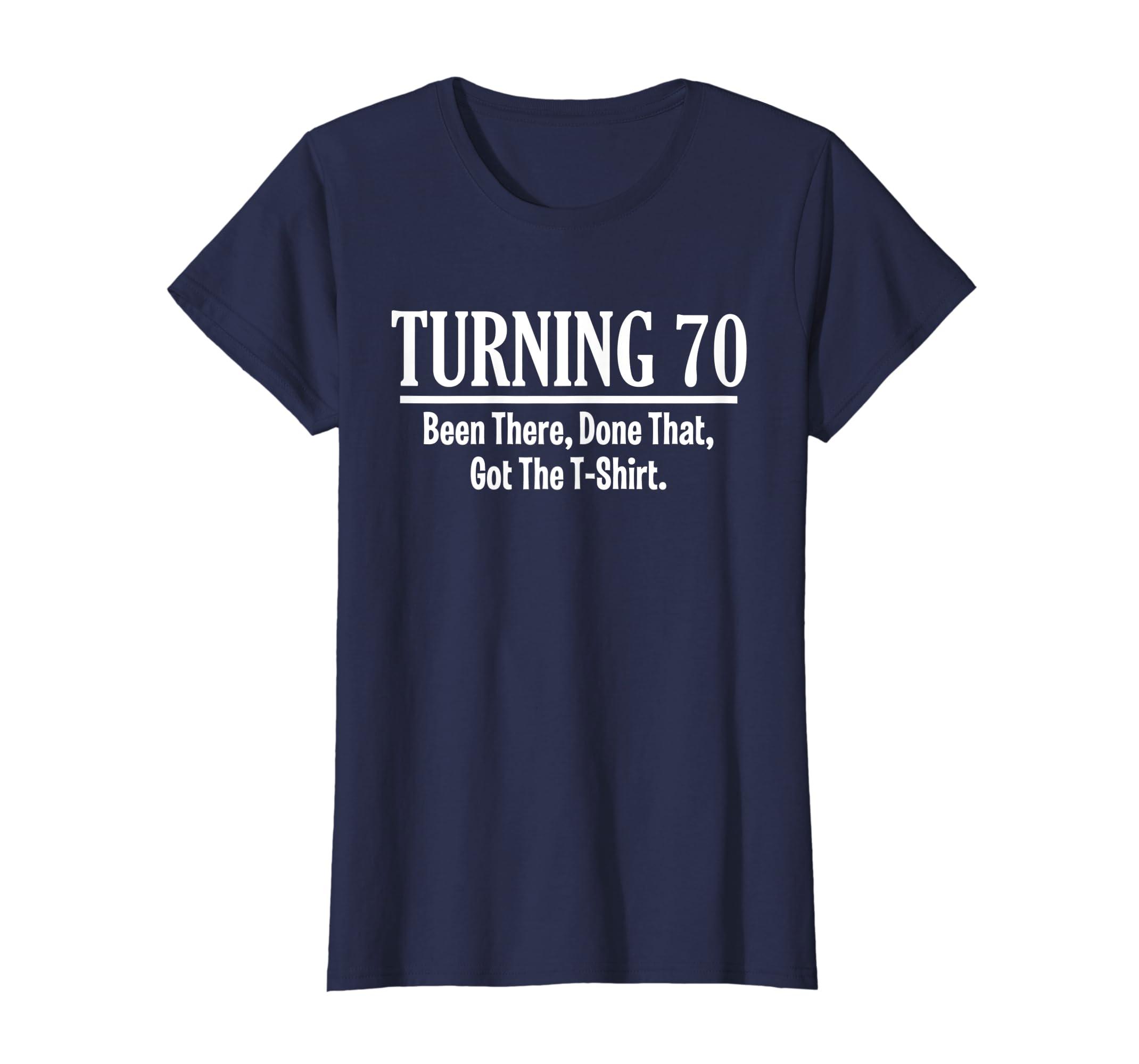 Amazon Turning 70 Shirt Funny 70th Birthday Gift Grandpa Grandma Clothing
