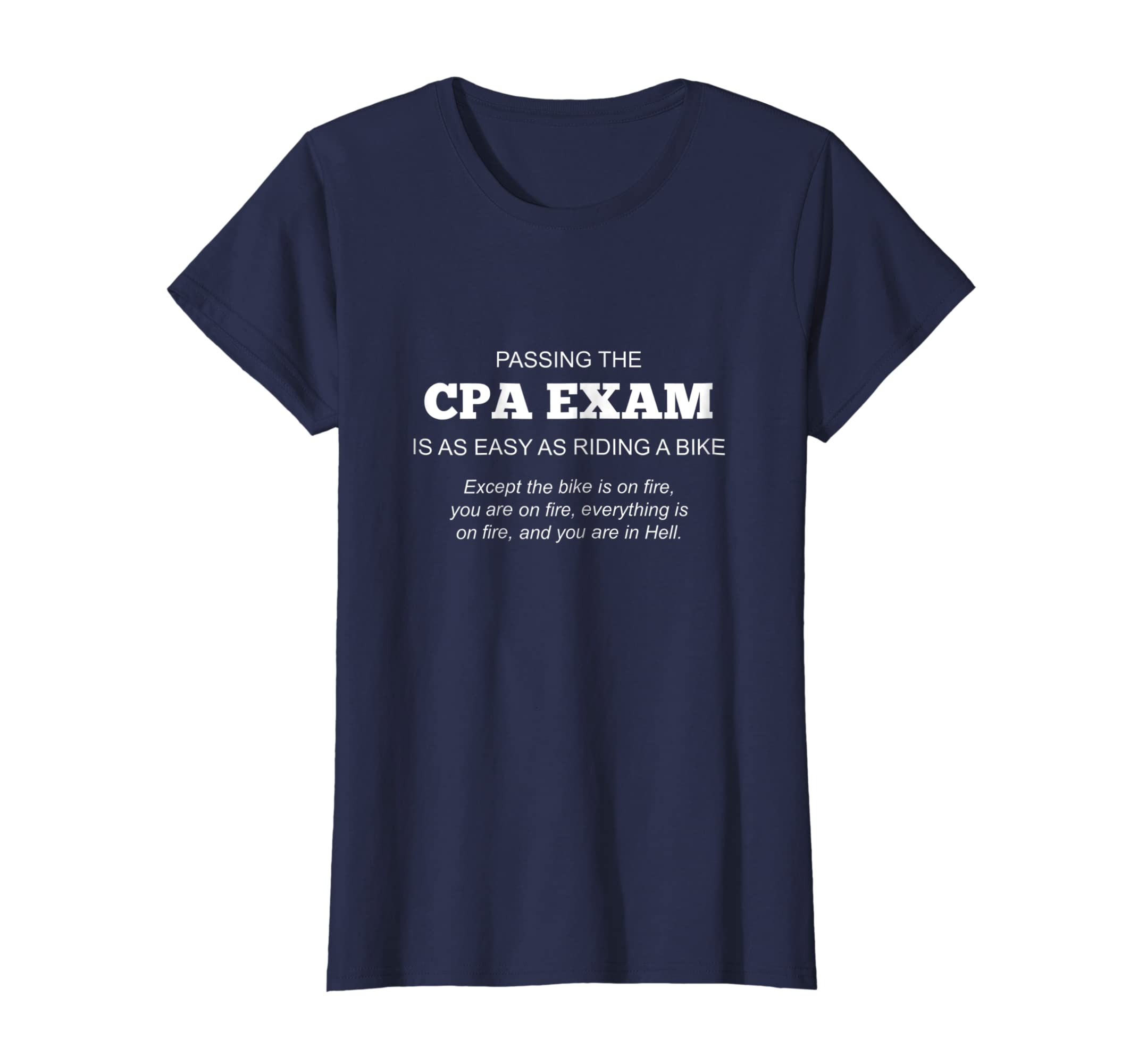 5e0102cc Amazon.com: Certified Public Accountant Shirt CPA Exam T-Shirt: Clothing