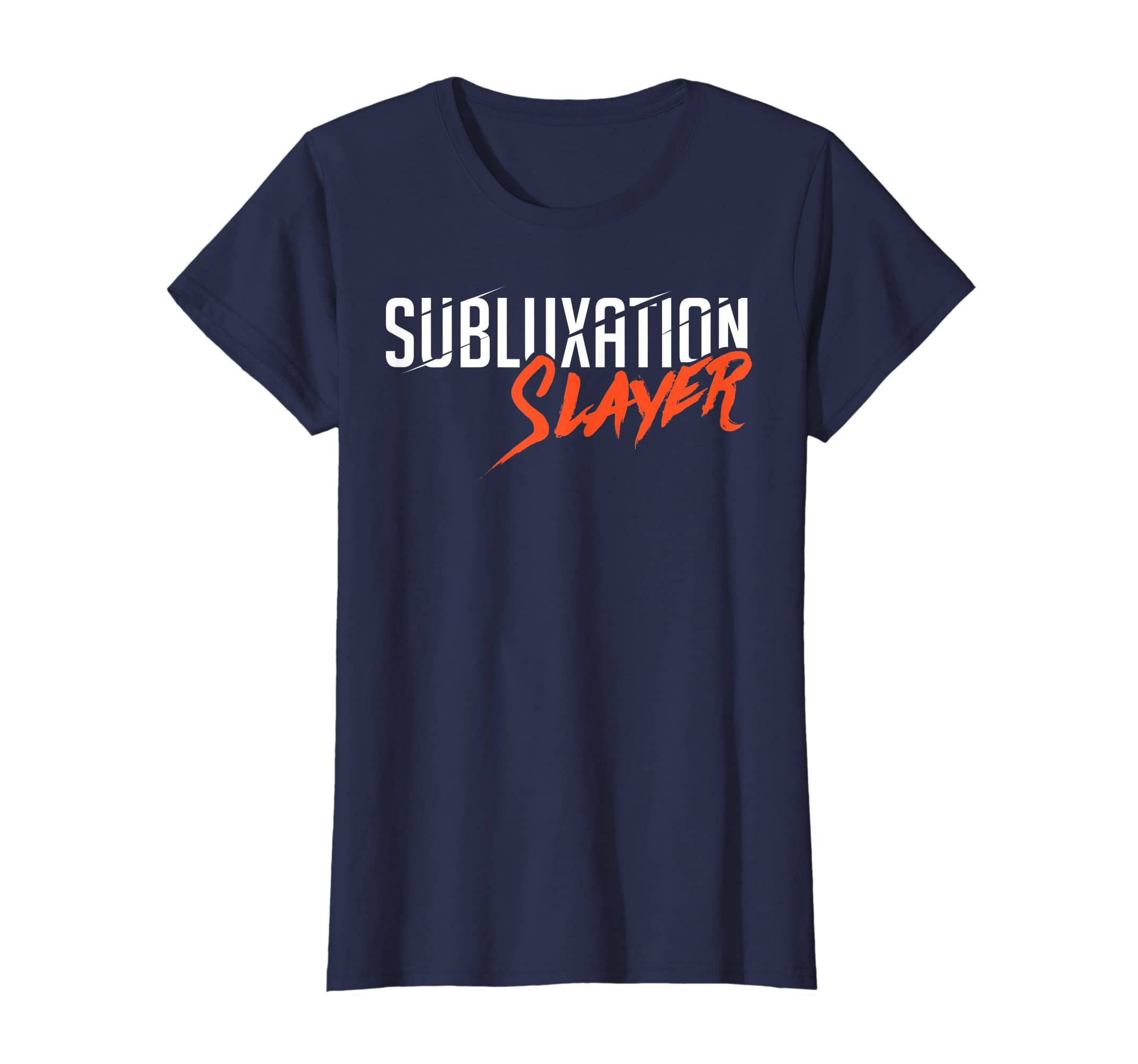 24b2ff3a Amazon.com: Subluxation Slayer Back Bone Spine Chiropractor Fun T Shirt:  Clothing