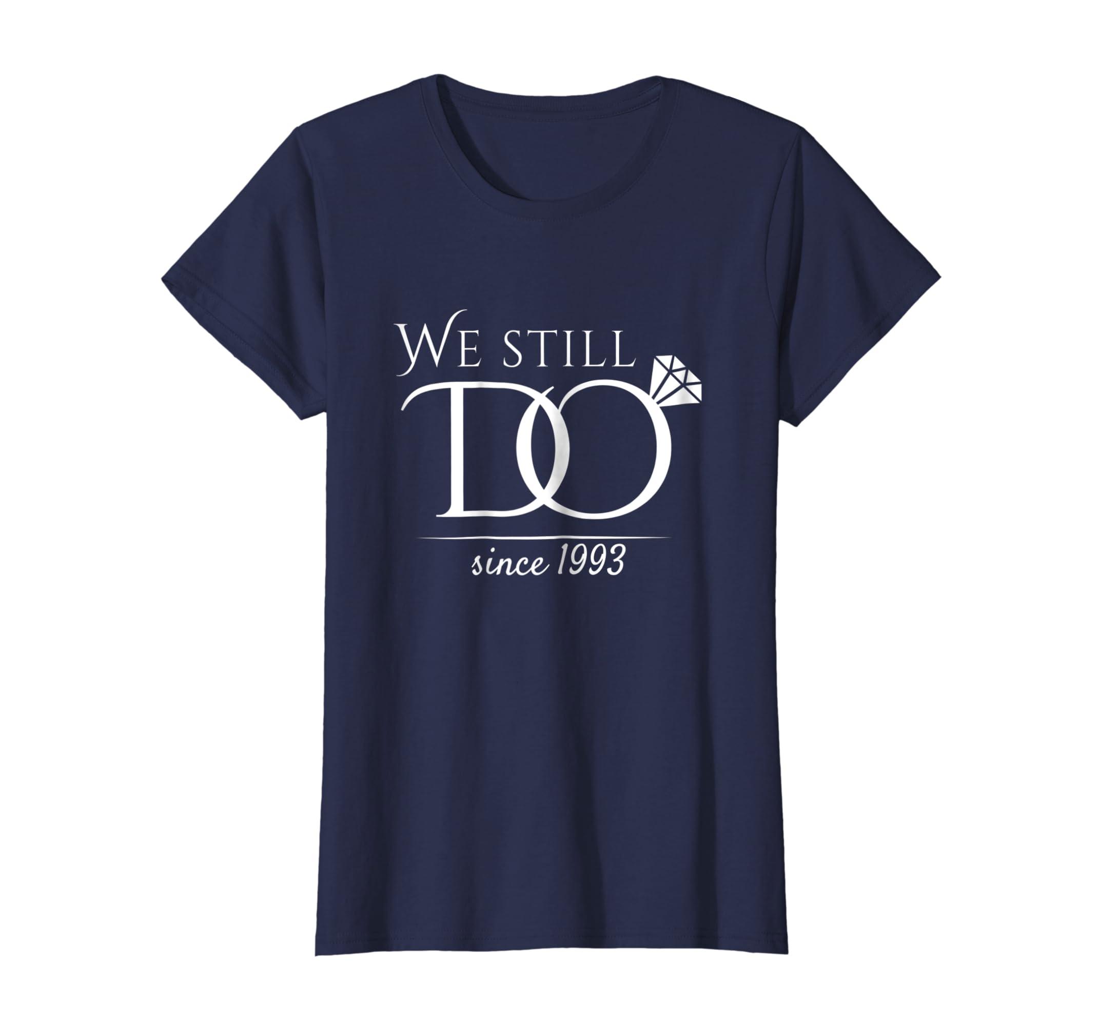 b08b1c8b3 Amazon.com: 25th Wedding Anniversary T-Shirt Funny For Married In 1993 W:  Clothing