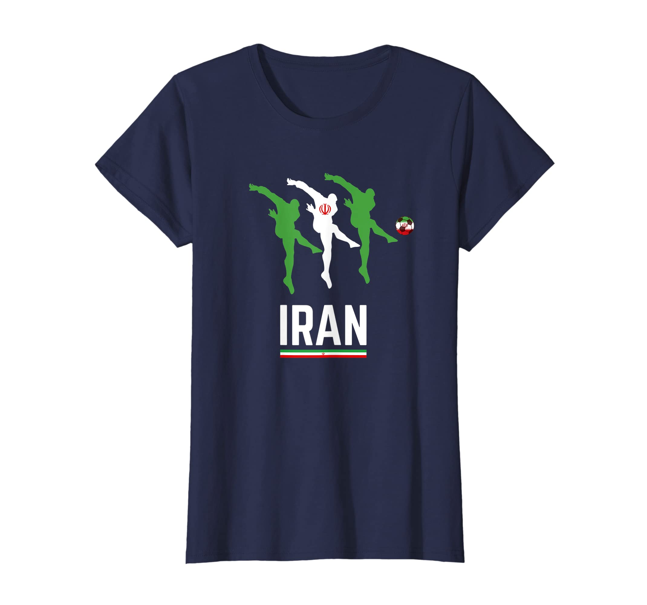 Amazon.com  Iran Soccer Jersey 2019 Flag Iranian Football Team Fan Shirt   Clothing e875a388d