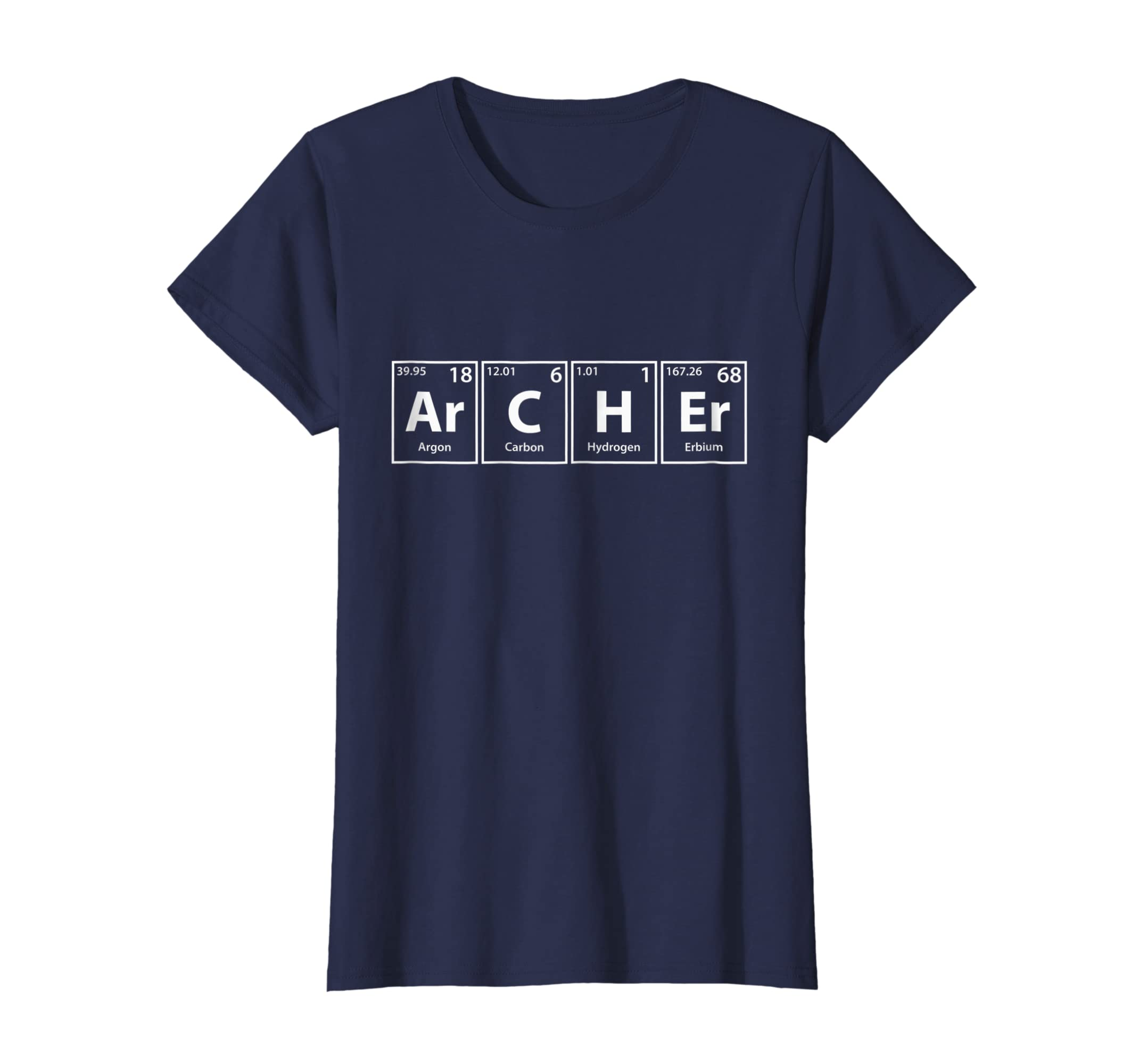 Amazon Com Archer Ar C H Er Periodic Table Elements Shirt