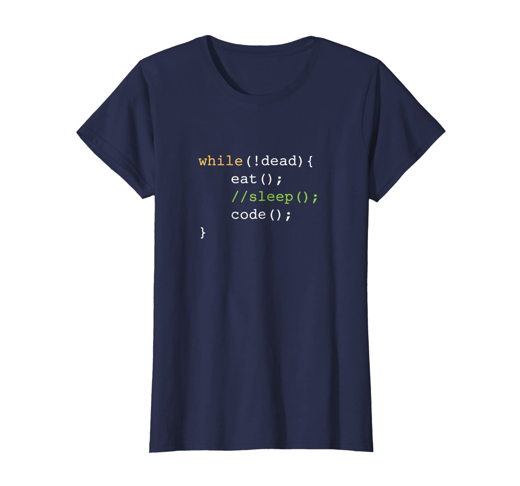 fd1c686f2 Amazon.com: Funny Computer Science Programmer Eat Sleep Code T-Shirt:  Clothing