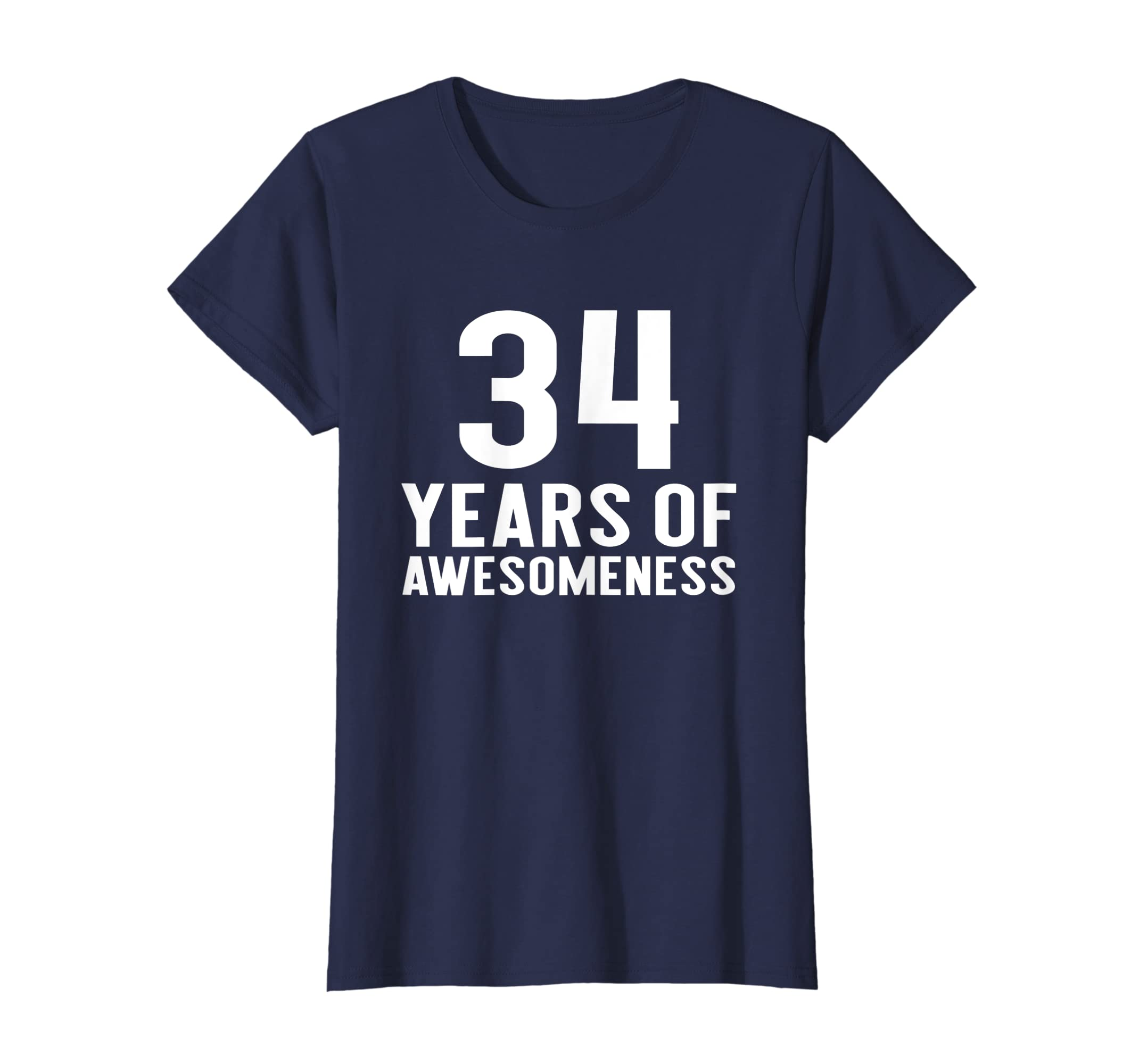 Amazon 34th Birthday Shirt Gift 34 Year Old Thirty Four Boy Girl Clothing