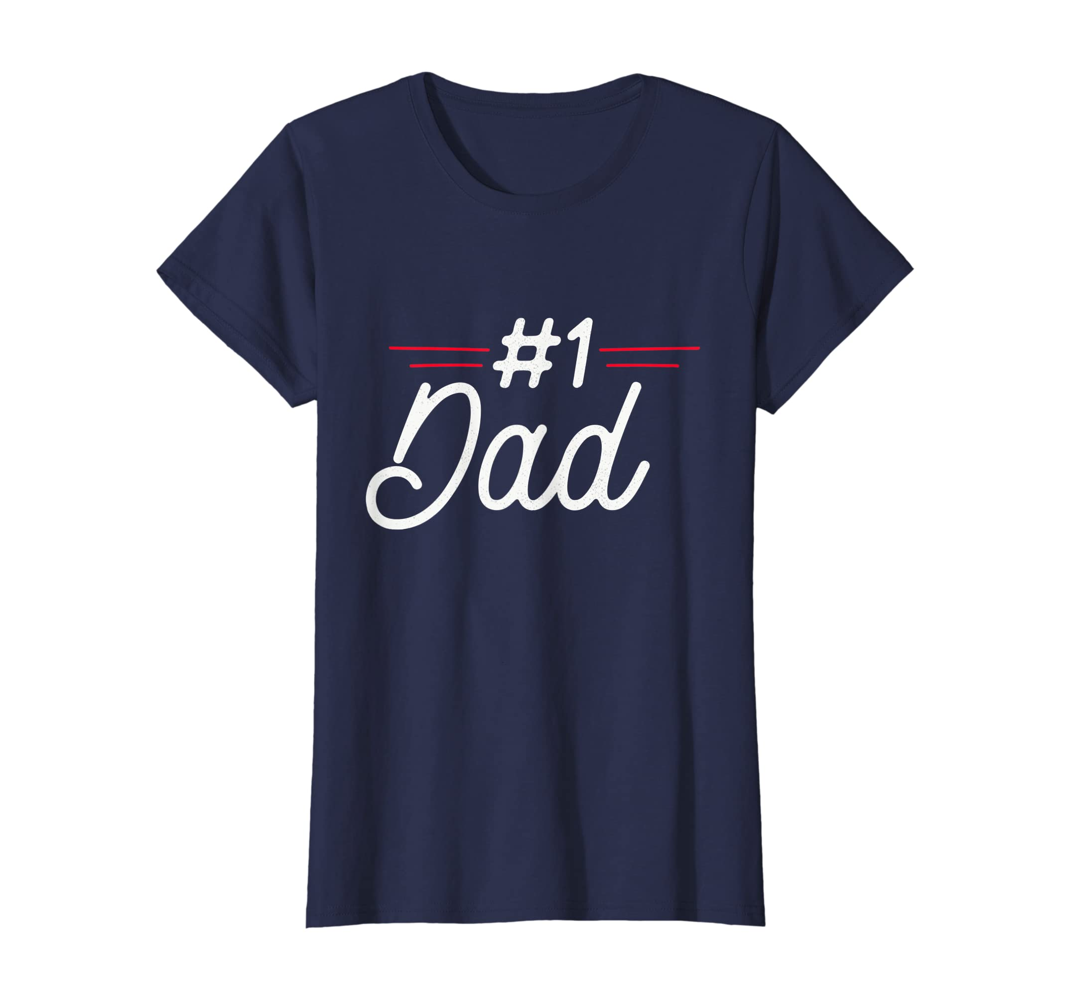 1dd5ca59 Amazon.com: #1 DAD Number One Father's Day Vintage Style T-Shirt: Clothing