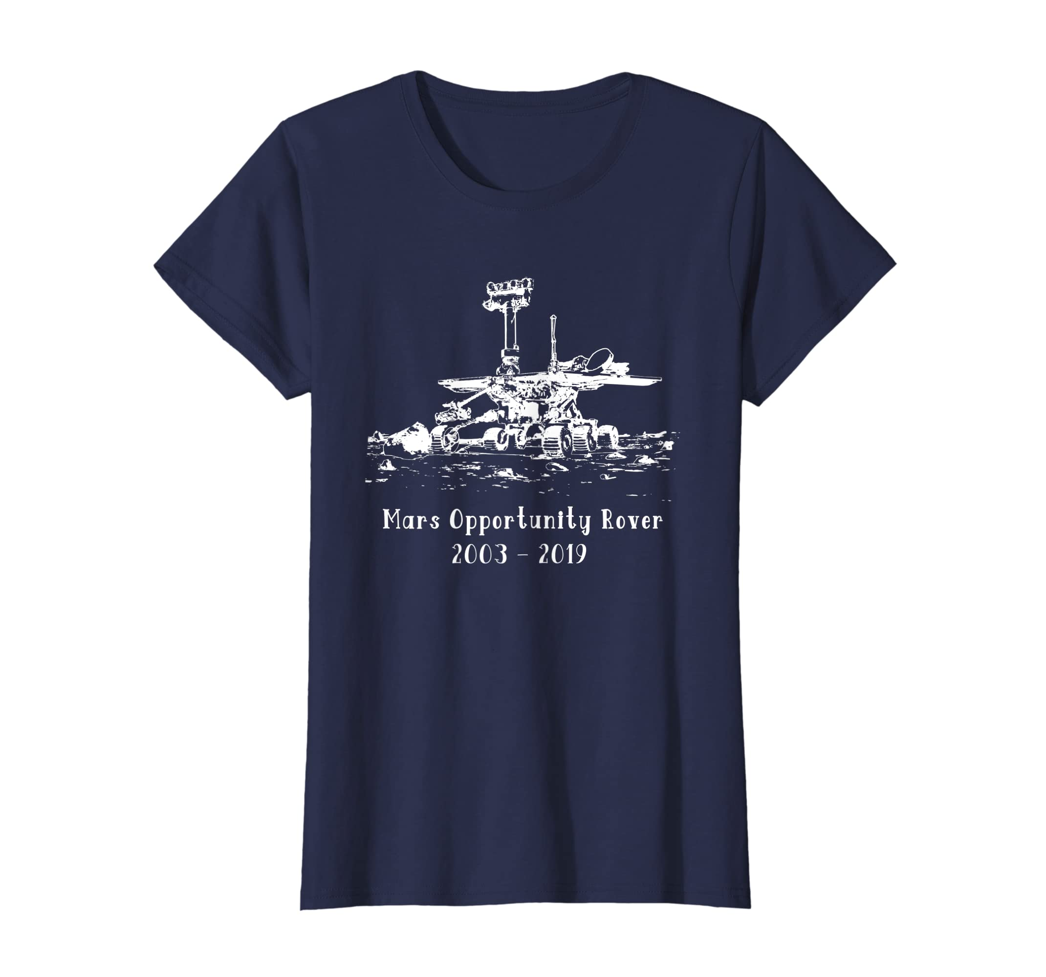 40a89de8f Amazon.com: Mars Rover Opportunity T-shirt Commemorative: Clothing