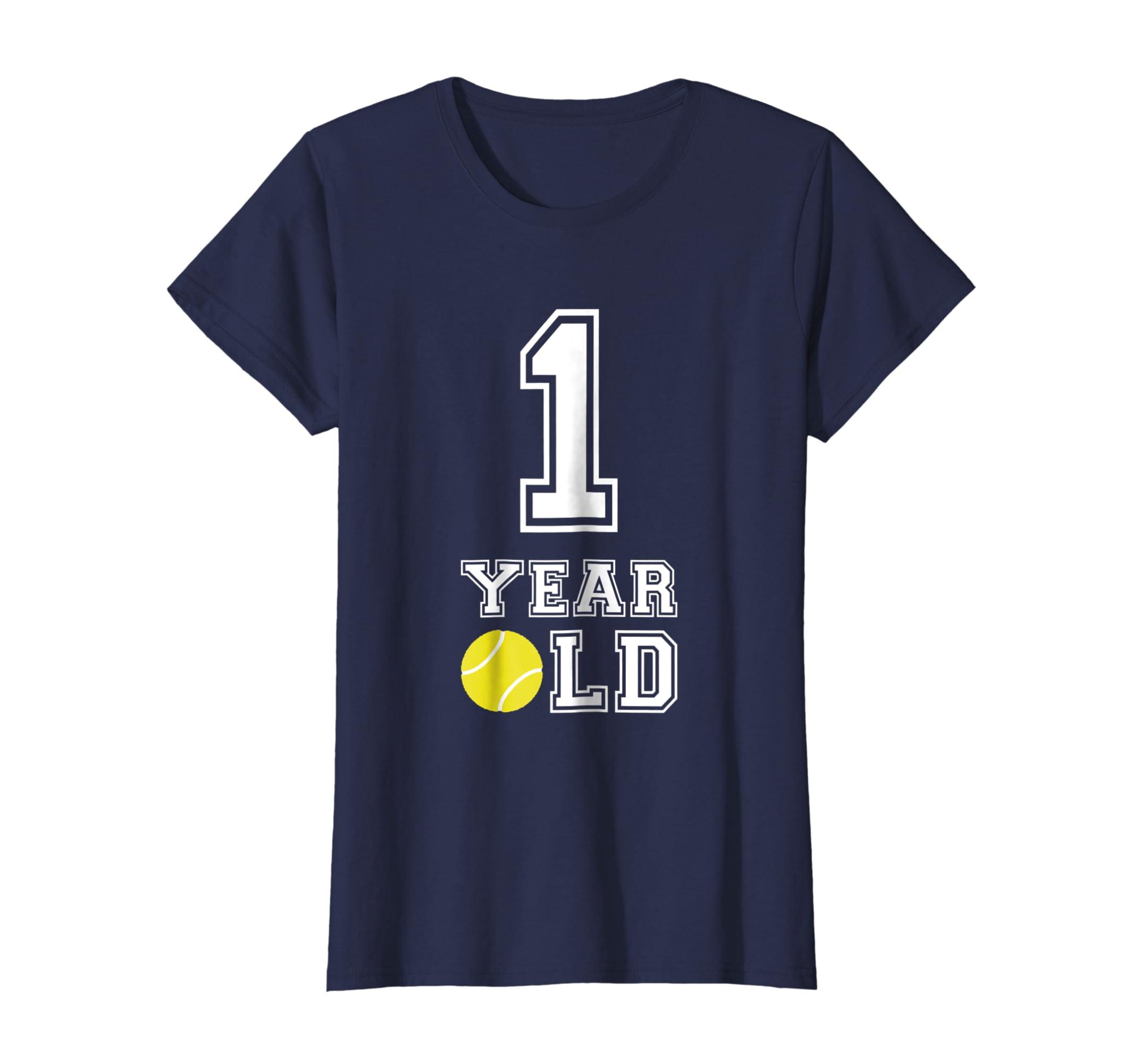 Amazon 1 Year Old Tennis Birthday Shirt Boys 1st Gift Clothing