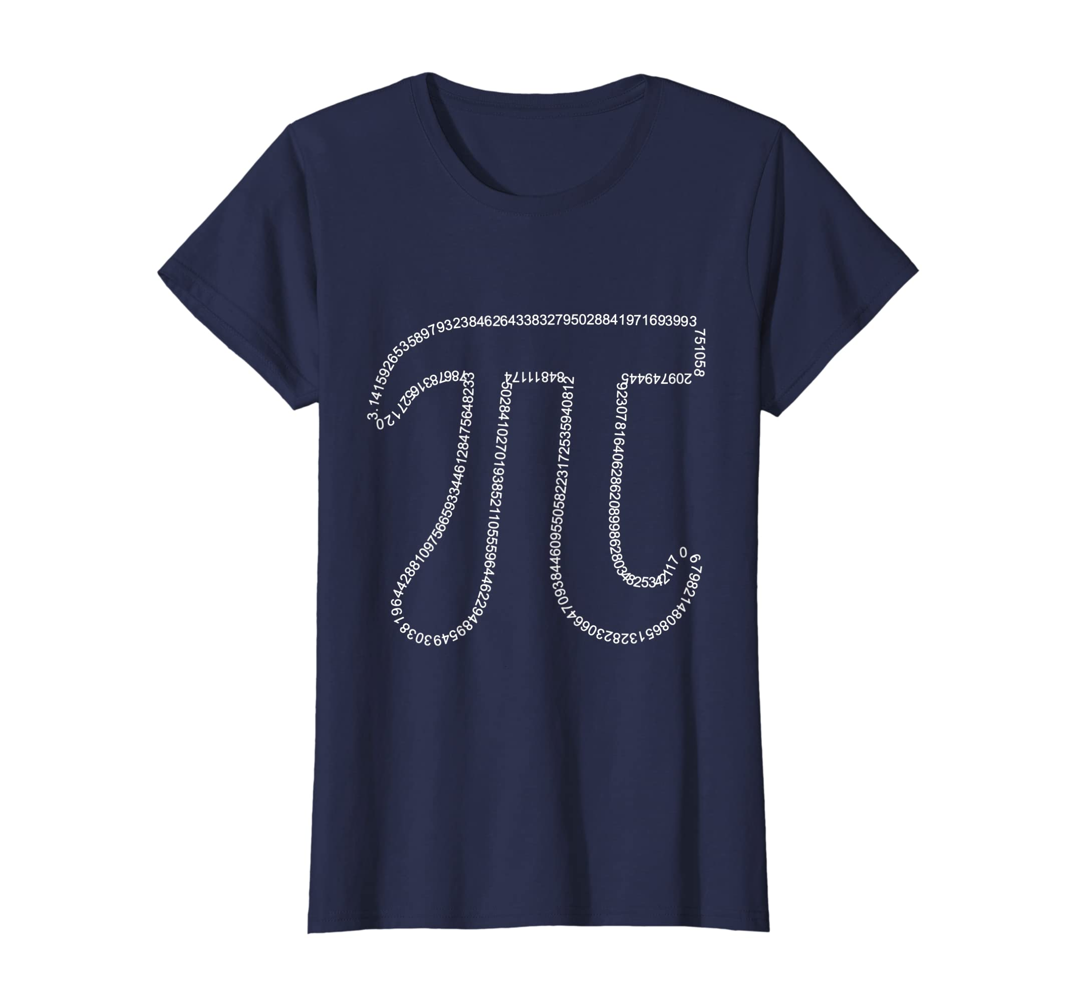 aa1e54231 Amazon.com: Pi Day Number 3.14159265359... Math 3.14 Funny T-Shirt: Clothing