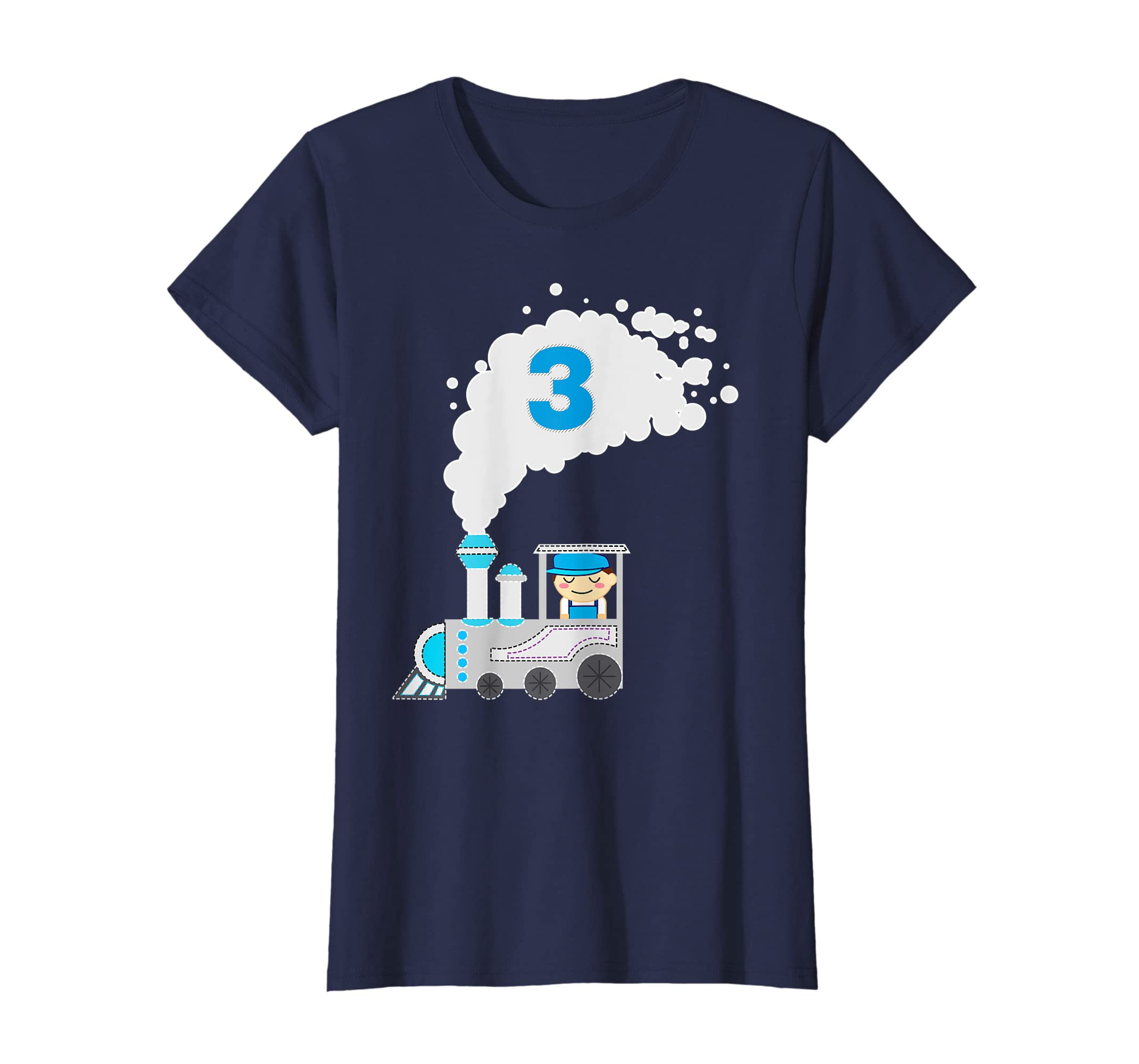 Amazon Kids 3 Year Old Train Birthday Shirt Boys 3rd Clothing