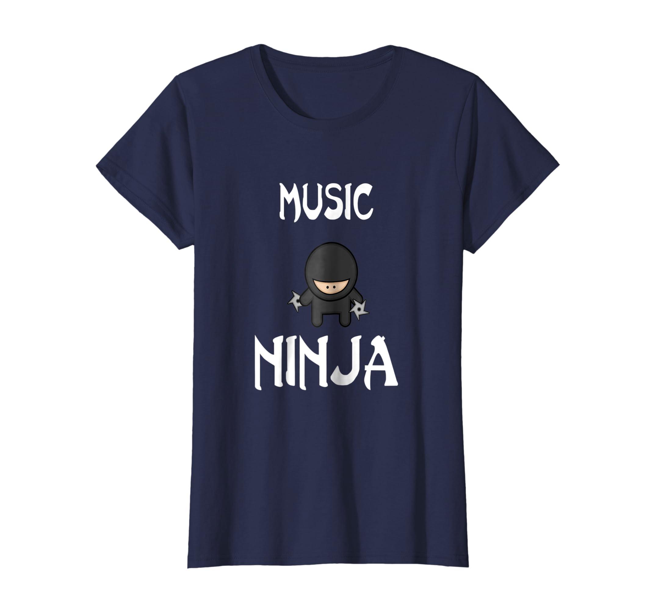 Amazon com: Music Ninja T-Shirt Funny shuriken shirt Ninjas