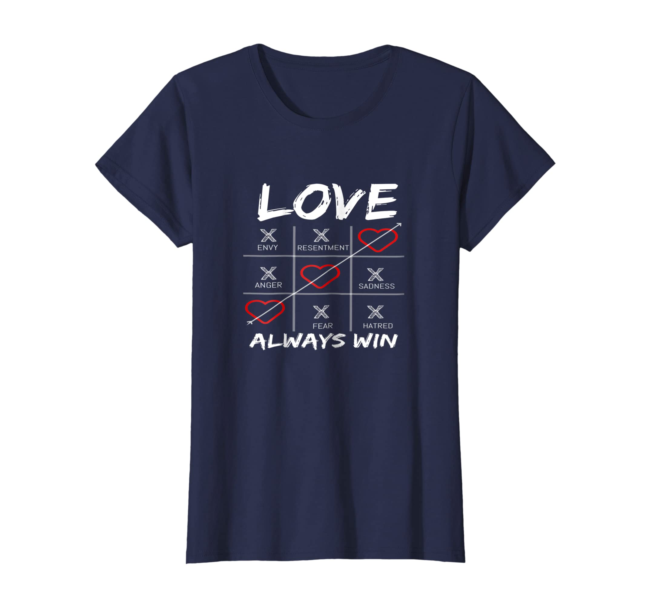 Amazon Com Love Always Win T Shirt Clothing