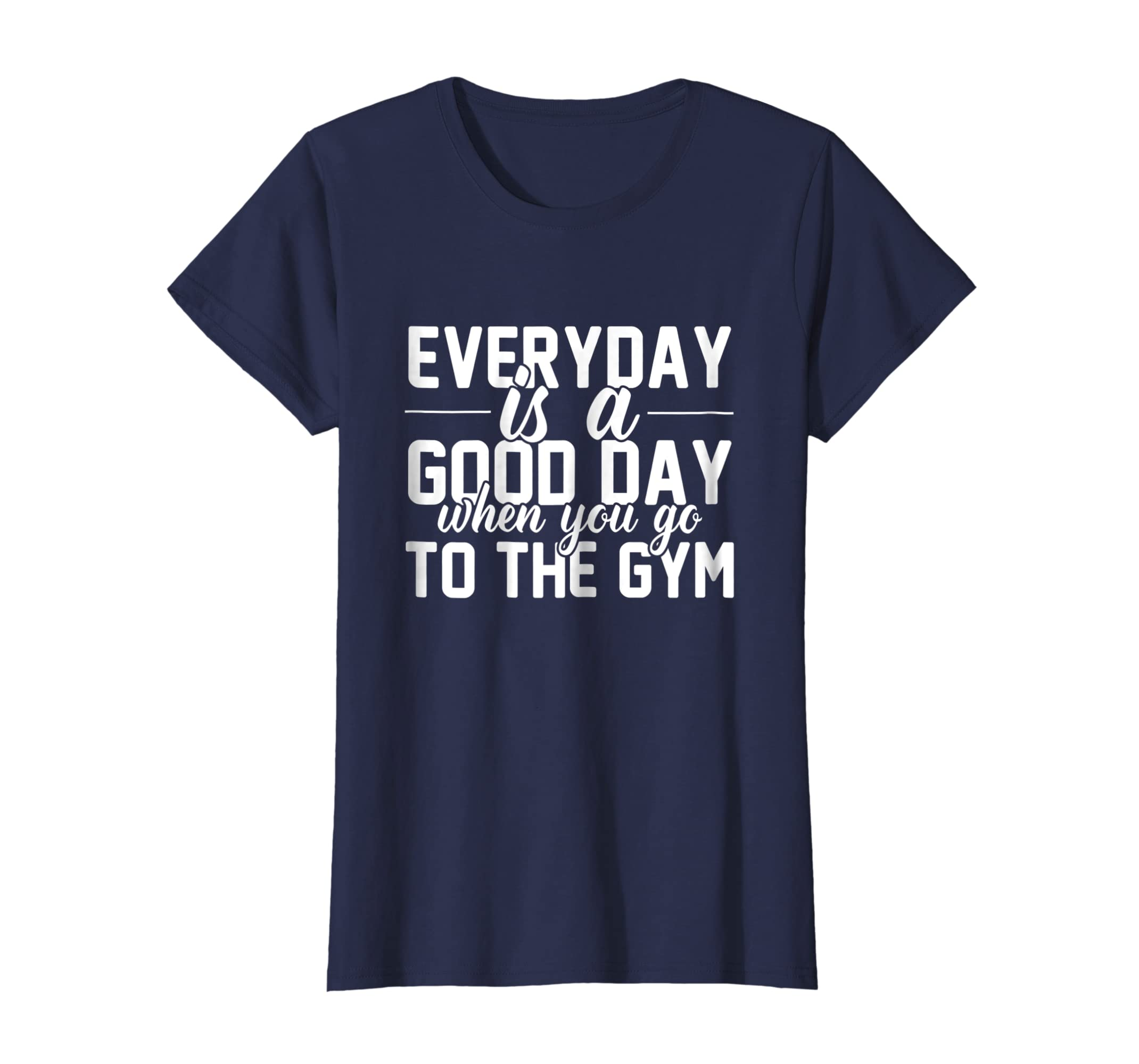 529c822de396c Amazon.com  Workout Gym Trainer Shirt Good Day Fitness Inspiration Quote   Clothing