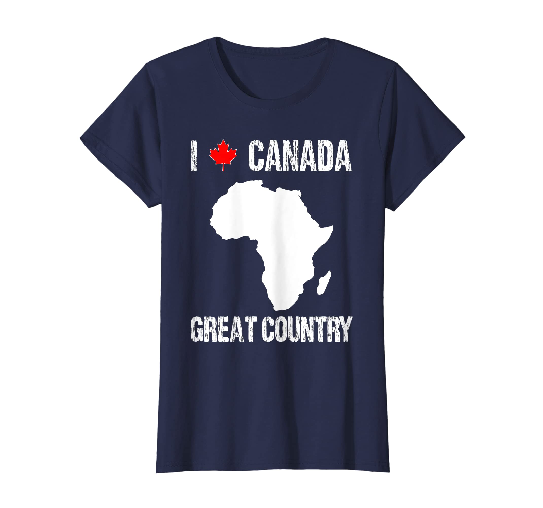 59f14ee4 Amazon.com: Funny Geography Tshirt Gift For Teachers Canada Prank Mix Up:  Clothing