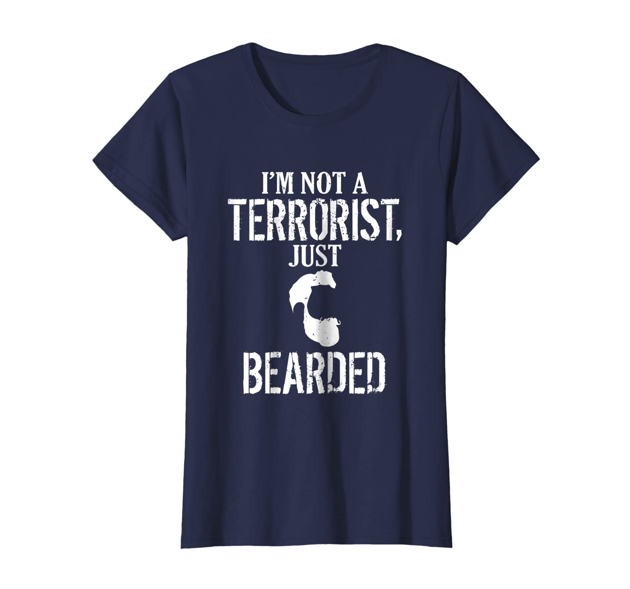 f85ea03b Amazon.com: Not A Terrorist Beard T-Shirt Funny Bearded Guy Shirt: Clothing