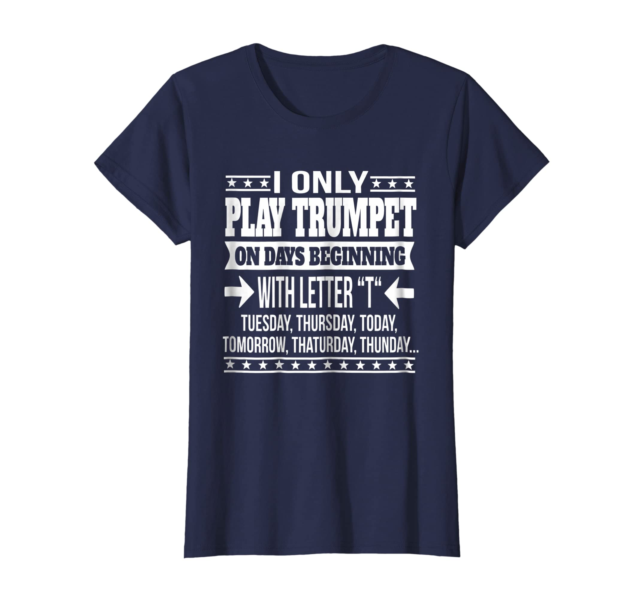 e0cba4a7c9 Amazon.com: Trumpet Gift T shirt Comical Trumpet Shirt Humorous Tee:  Clothing