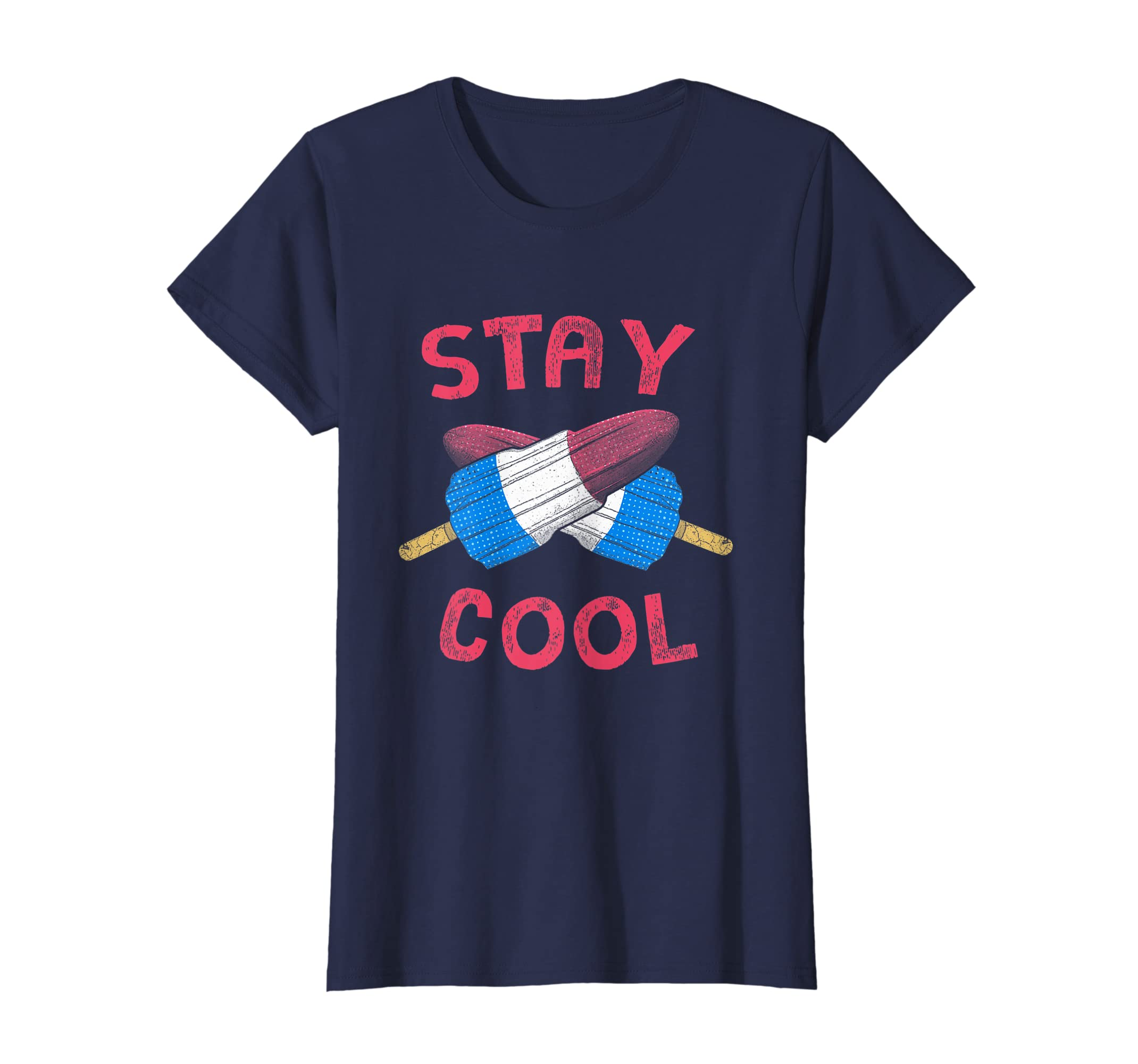 7de8ca8b2 Amazon.com: Stay Cool 4th Of July Kid Popsicle Summer Freedom T Shirt:  Clothing