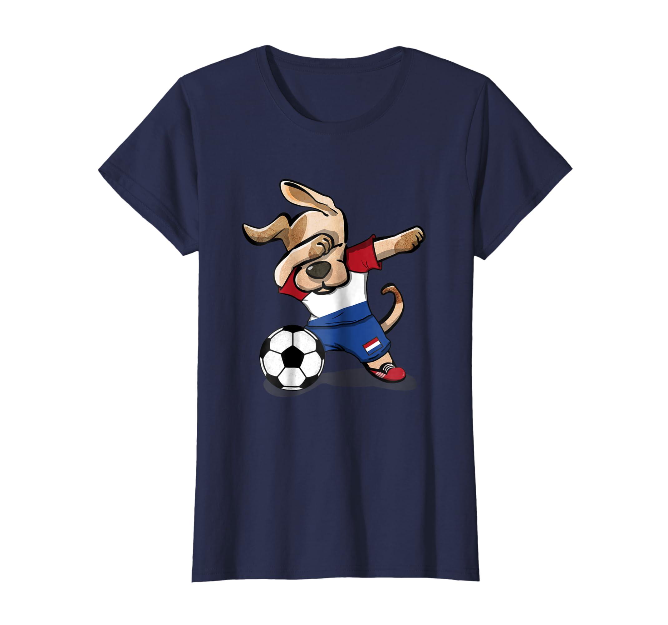 314284c24 Amazon.com  Dog Dabbing Soccer Netherlands Jersey Shirt Dutch Football   Clothing