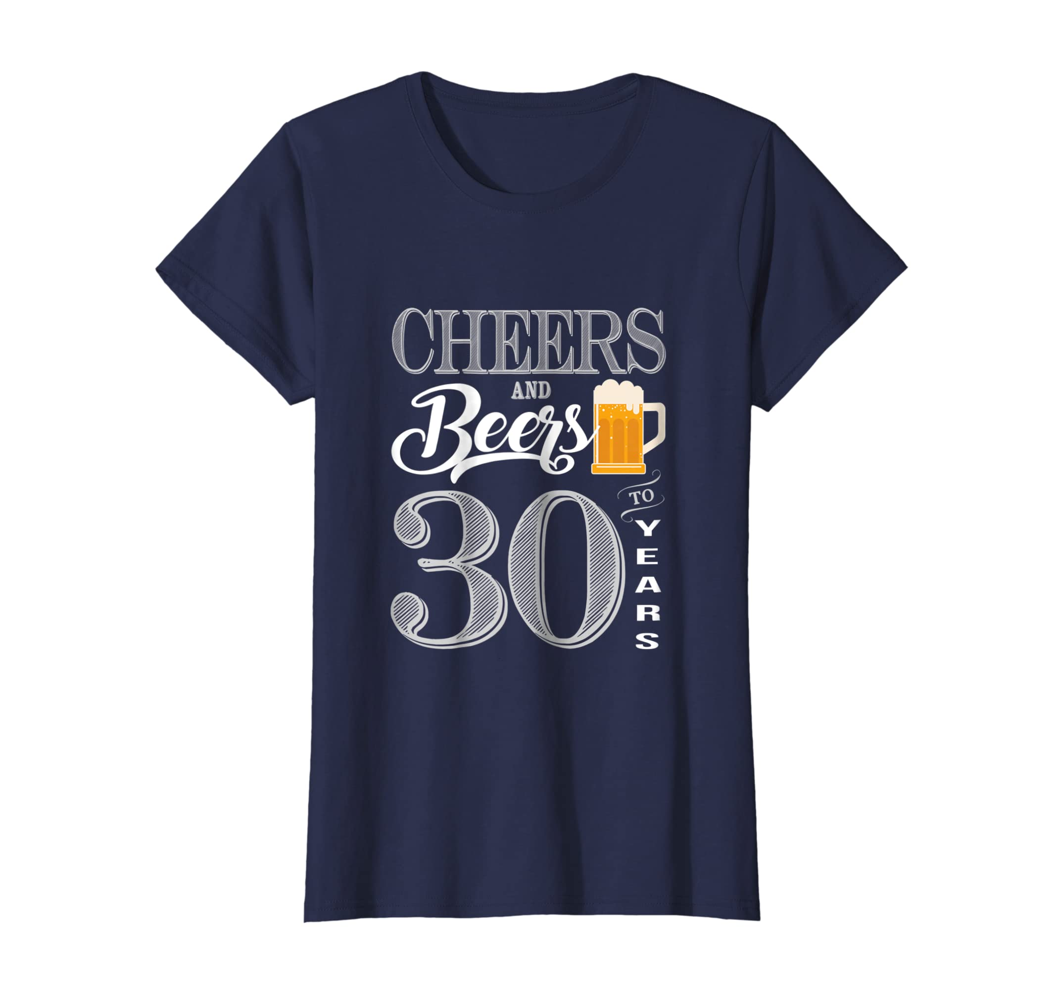 Amazon 30th Birthday Shirt 30 Cheers Beers Thirty Bday T Clothing
