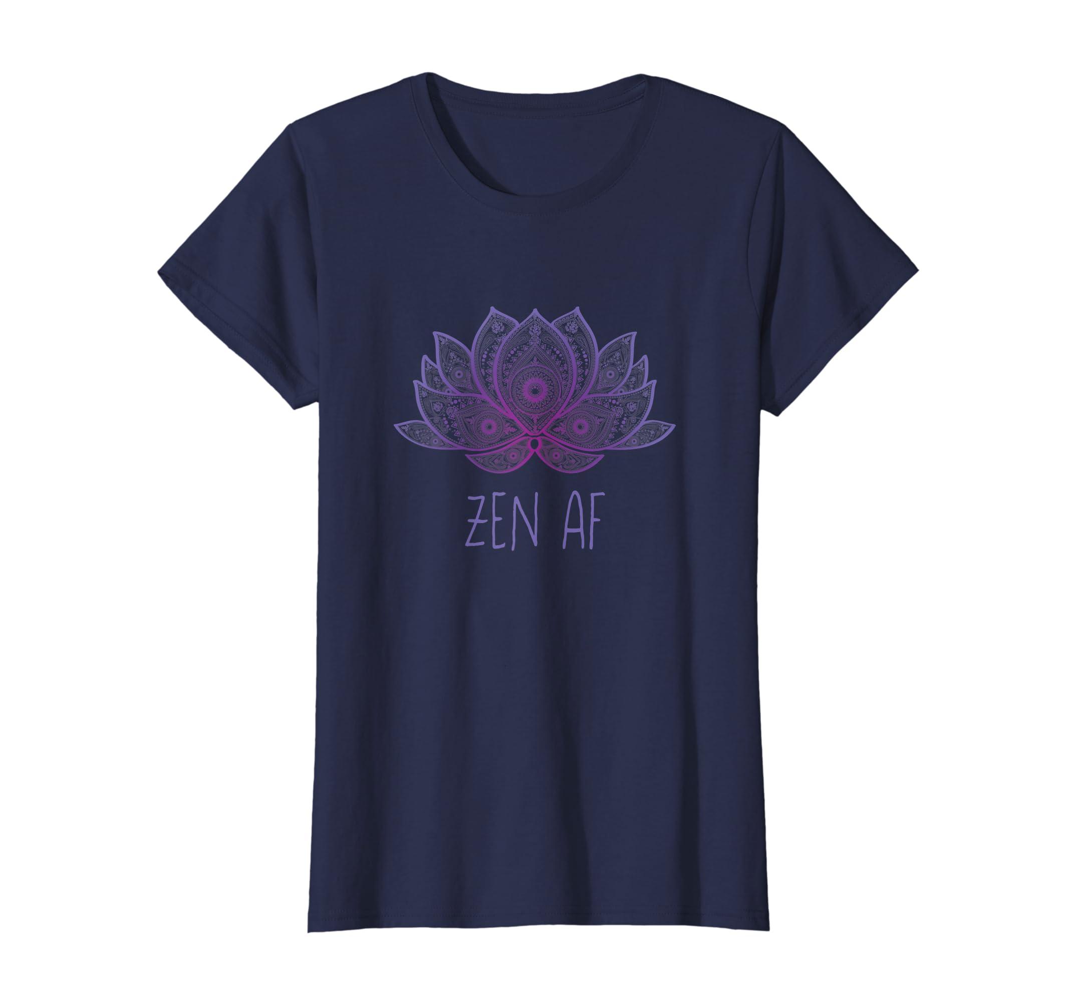 Amazoncom Funny Zen Af Purple Lotus Flower Sarcastic Yoga Lover