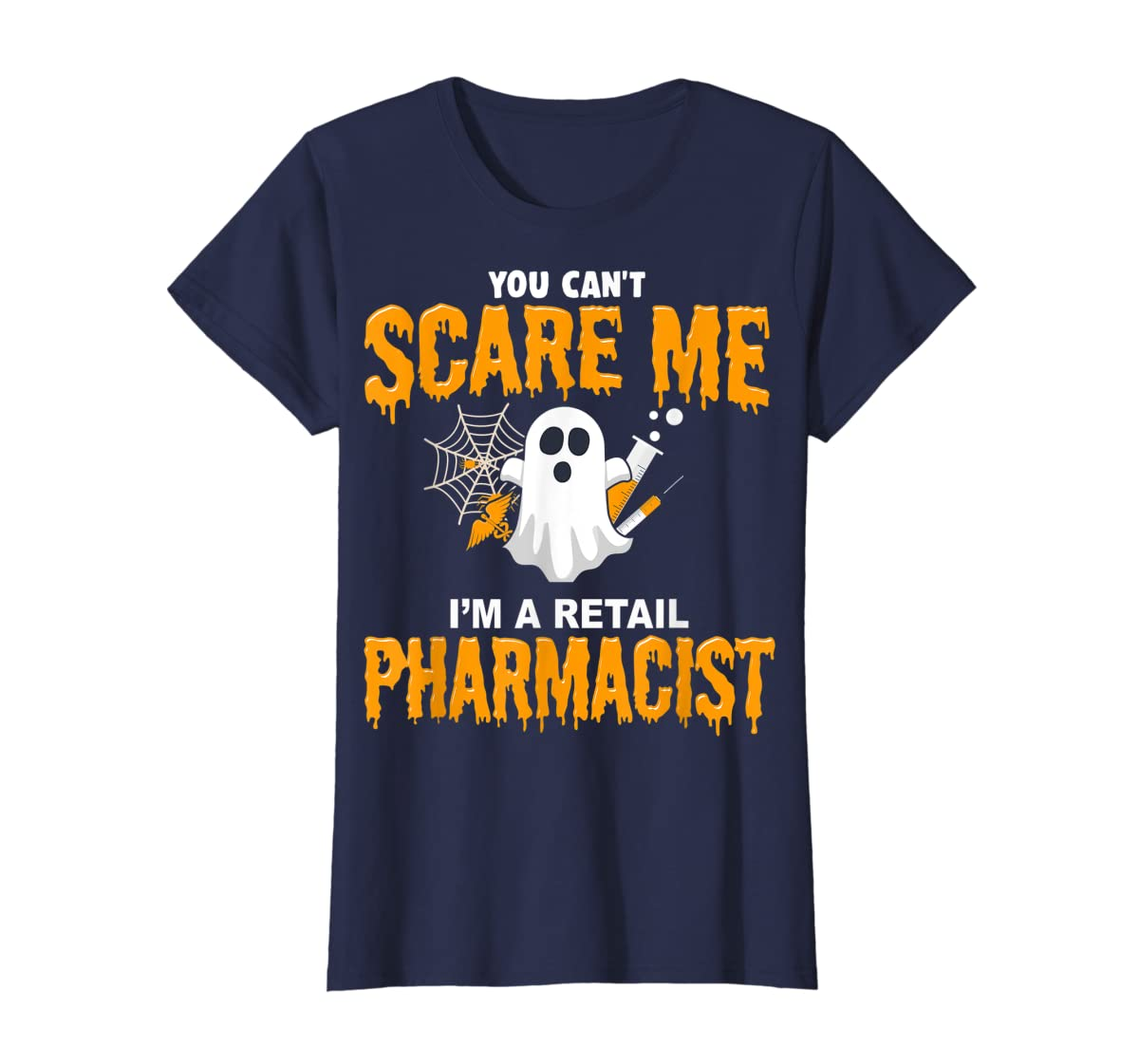 Halloween Costume Shirt I'm A Retail Pharmacist  T-Shirt-Women's T-Shirt-Navy