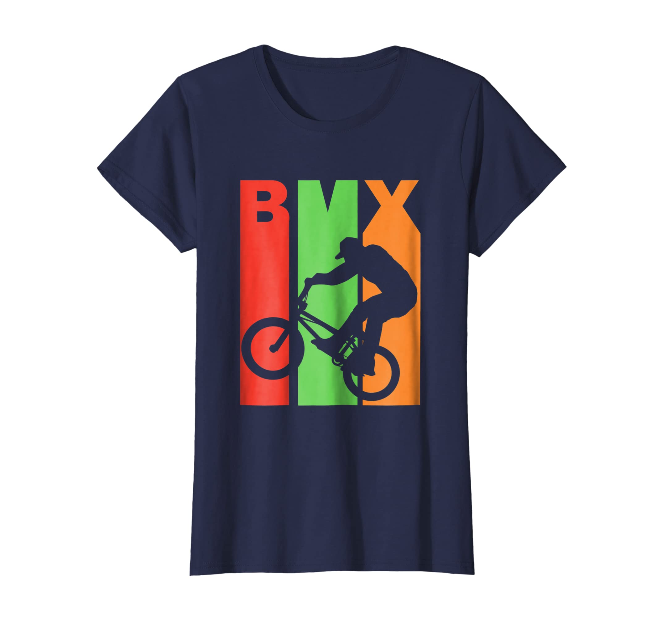 Amazon.com  BMX Riding Retro T Shirt Cool Dirt Bike Race Stunt Gift Tee   Clothing 7cd6cc651