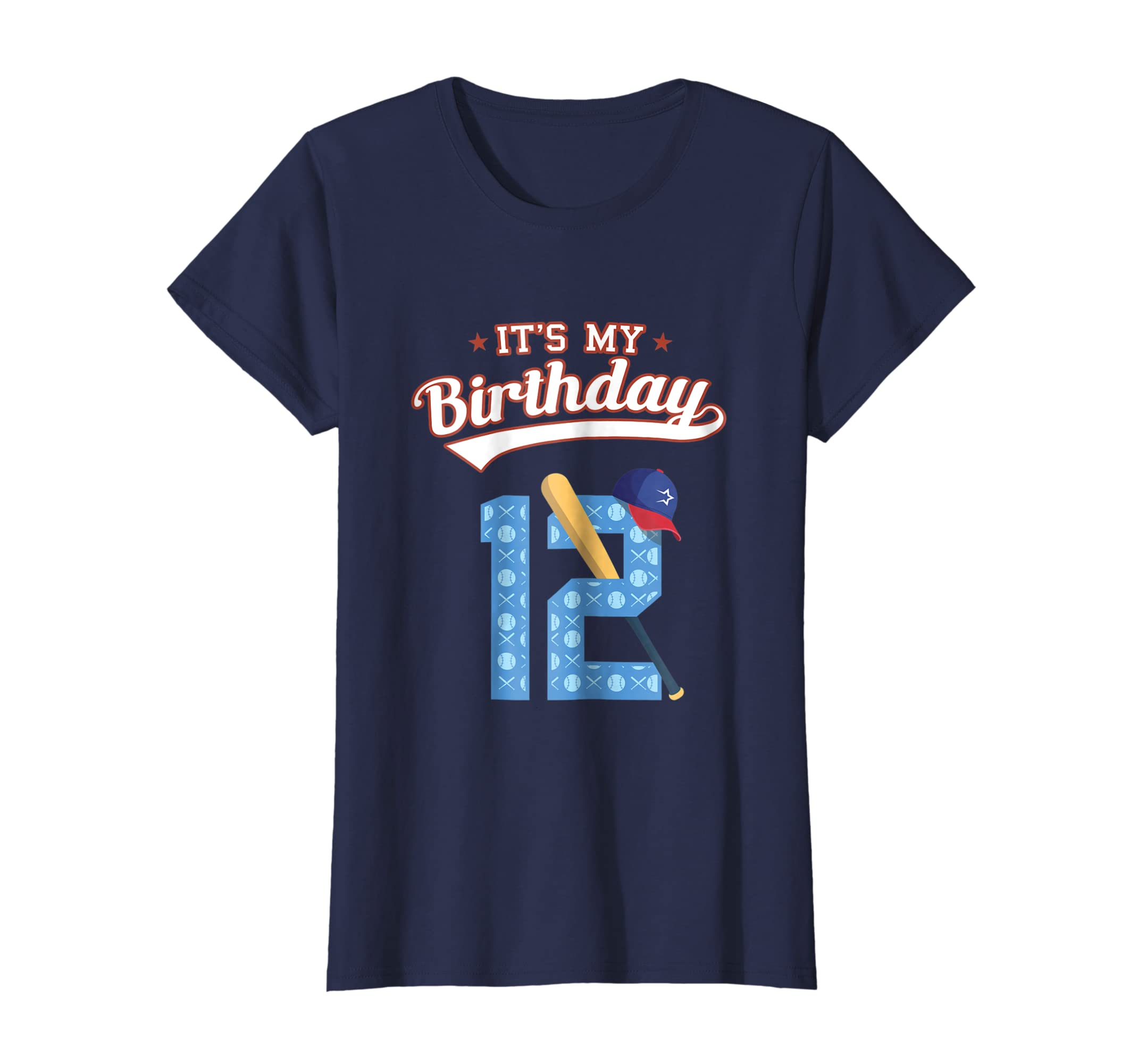 Amazon Its My 12th Birthday T Shirt For 12 Year Old Baseball Fan Clothing