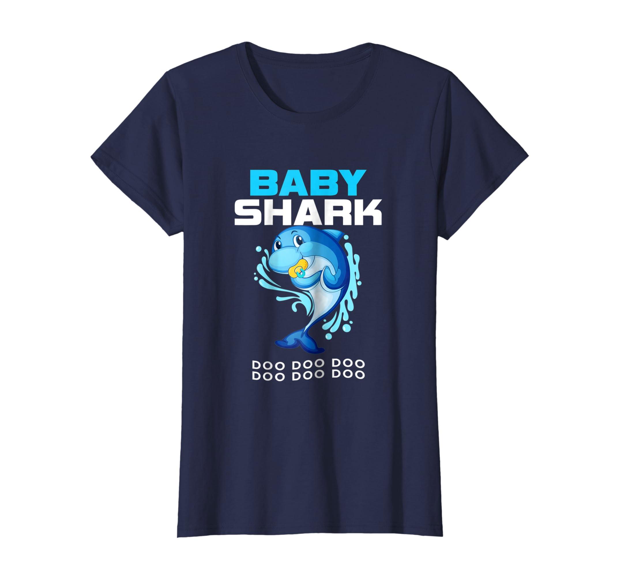 d909de2f Amazon.com: Baby Shark Shirt Doo Doo Cute Gift From Daddy Mommy Grandpa:  Clothing