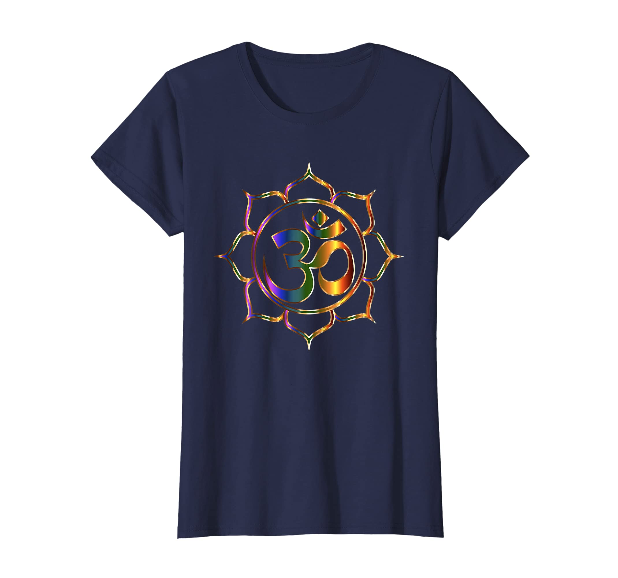 bb8e60ee8 Amazon.com: Namaste T-Shirt Om Sanskrit Symbol Lotus Buddha Yoga Tee 3d:  Clothing