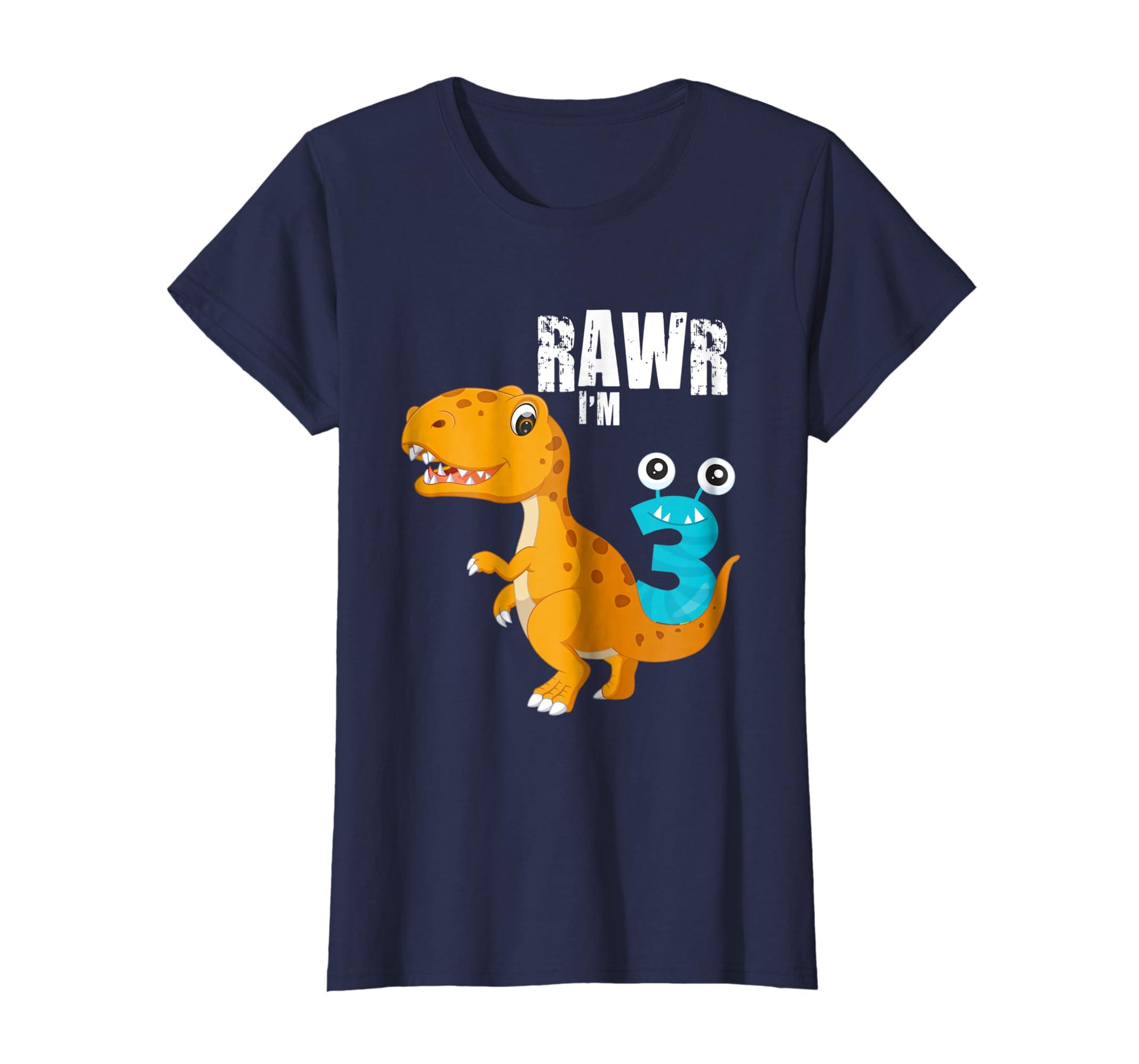 Amazon 3rd Birthday Dinosaur Shirt 3 For Year Old Boys Clothing