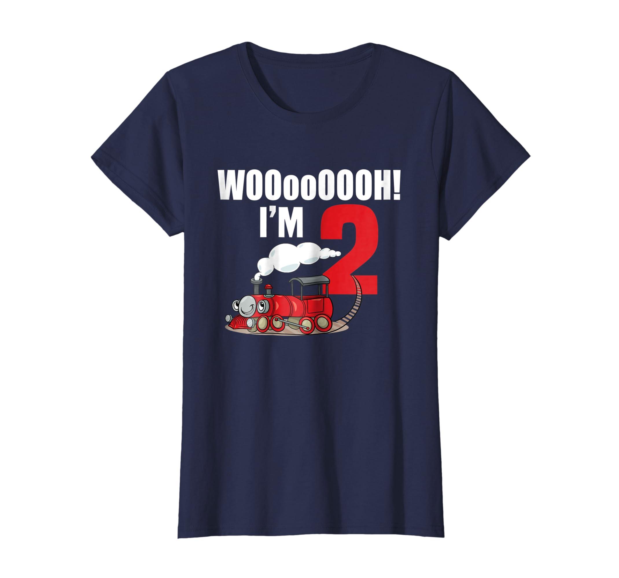 Amazon 2nd Birthday Boy T Shirt WOoOOH I Am 2 Train Bday Clothing