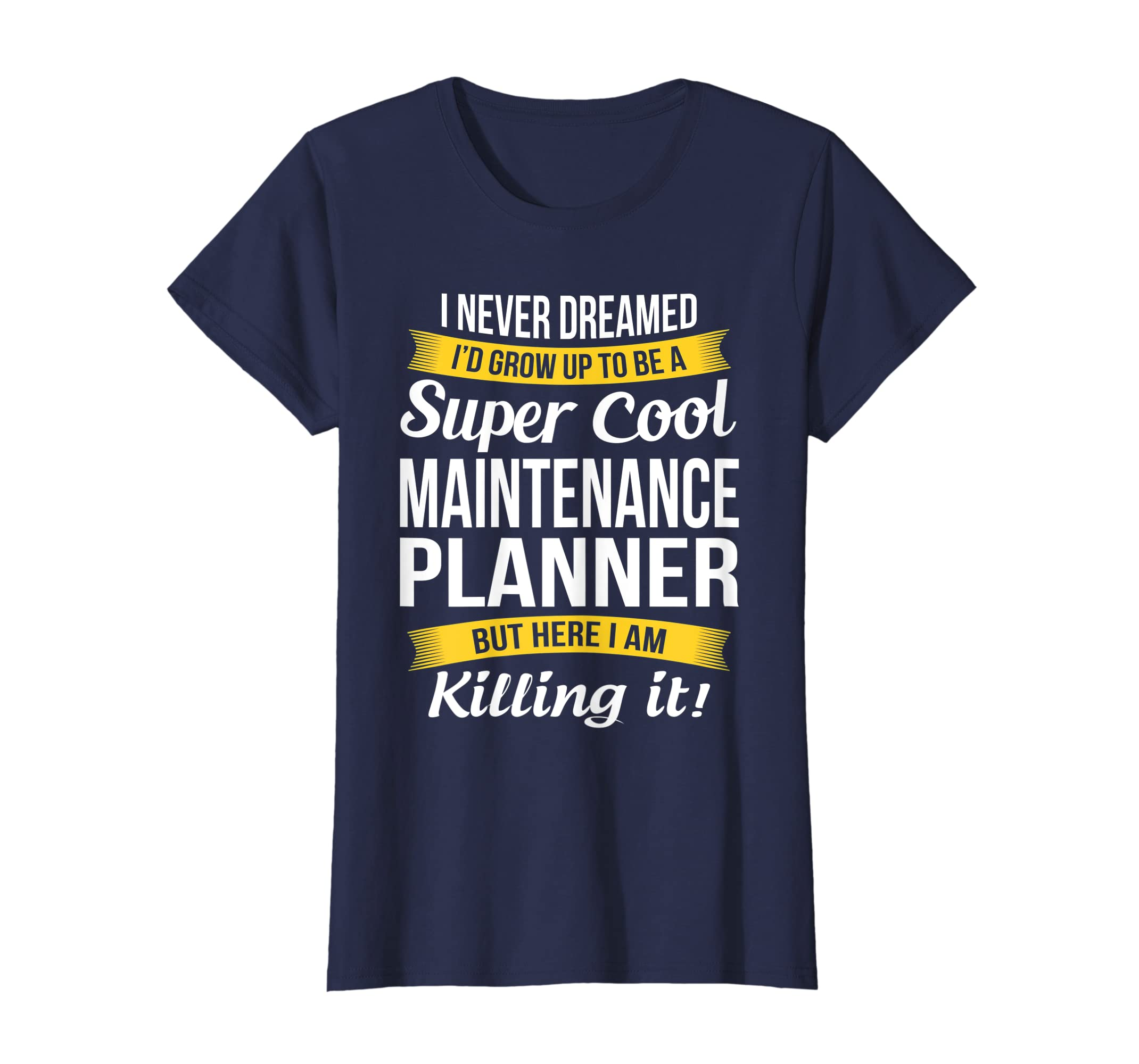 38516dd06 Amazon.com: Super Cool Maintenance Planner T-Shirt Funny Gift: Clothing