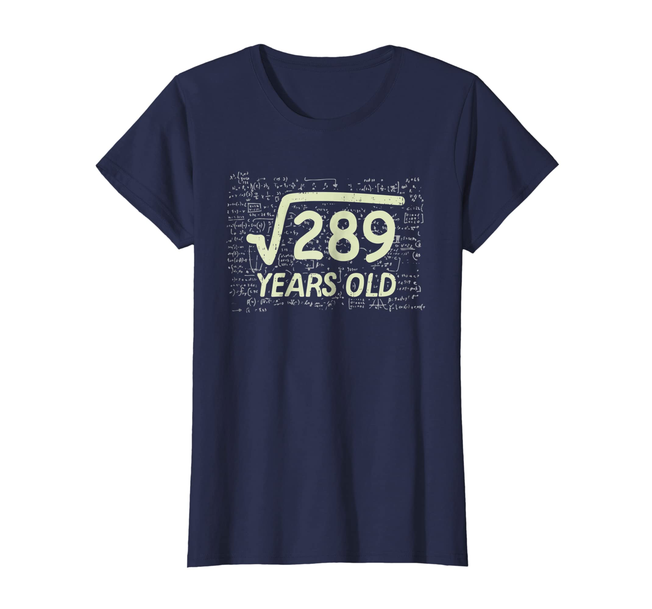 Amazon Square Root Of 289 Shirt Years Old 17th Birthday Gift Math Clothing