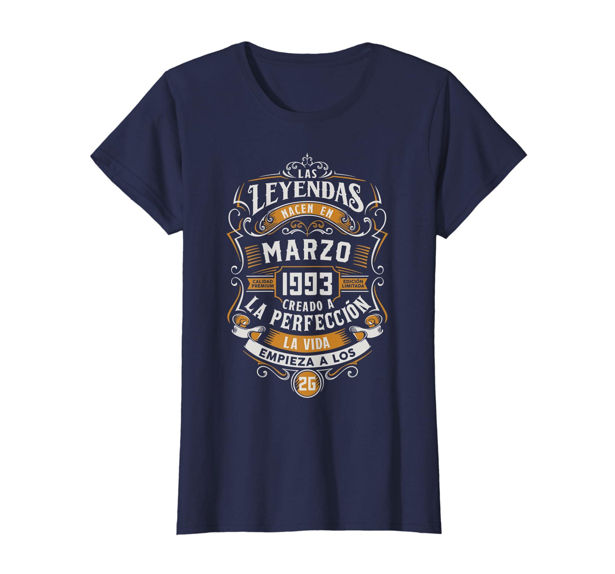 Amazon.com: Regalo 26 Cumpleanos Marzo 1993 Camiseta Spanish ...