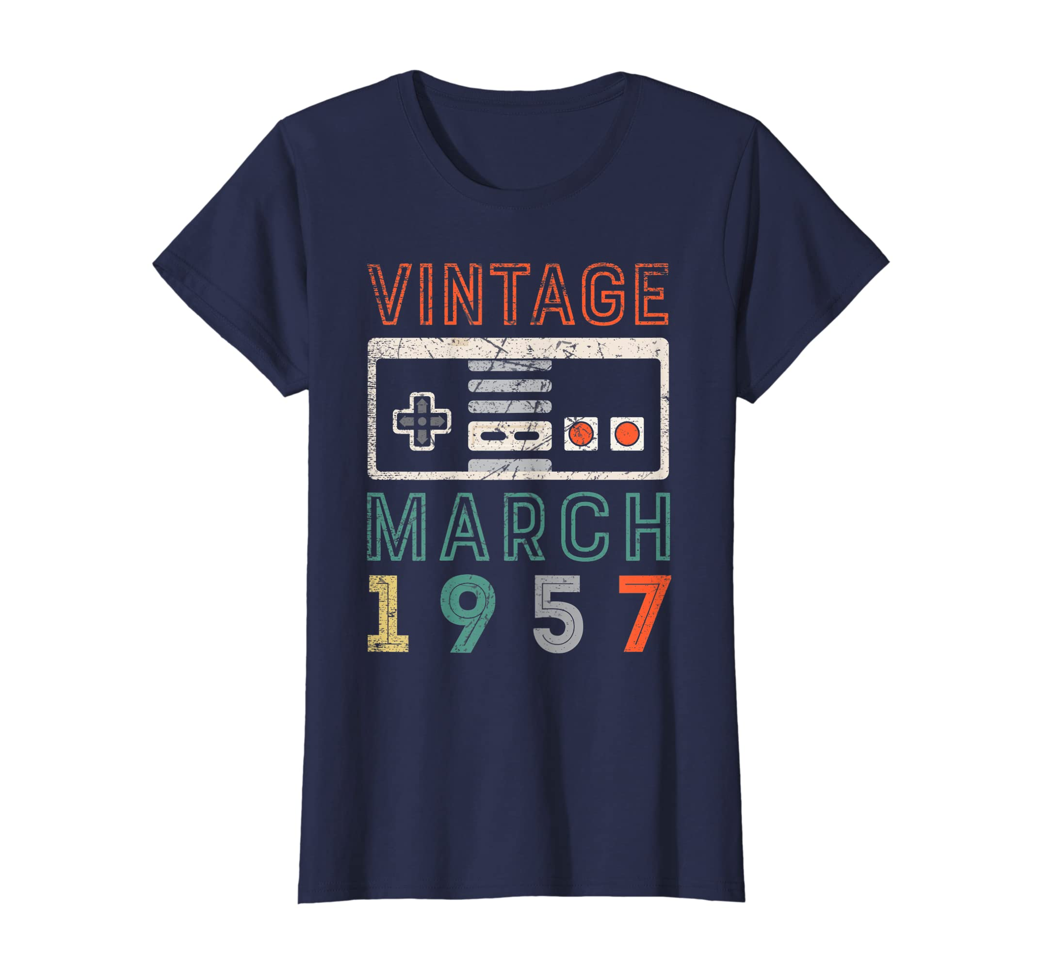 Amazon Vintage March 1957 62nd Birthday Shirt 62 Year Old Clothing