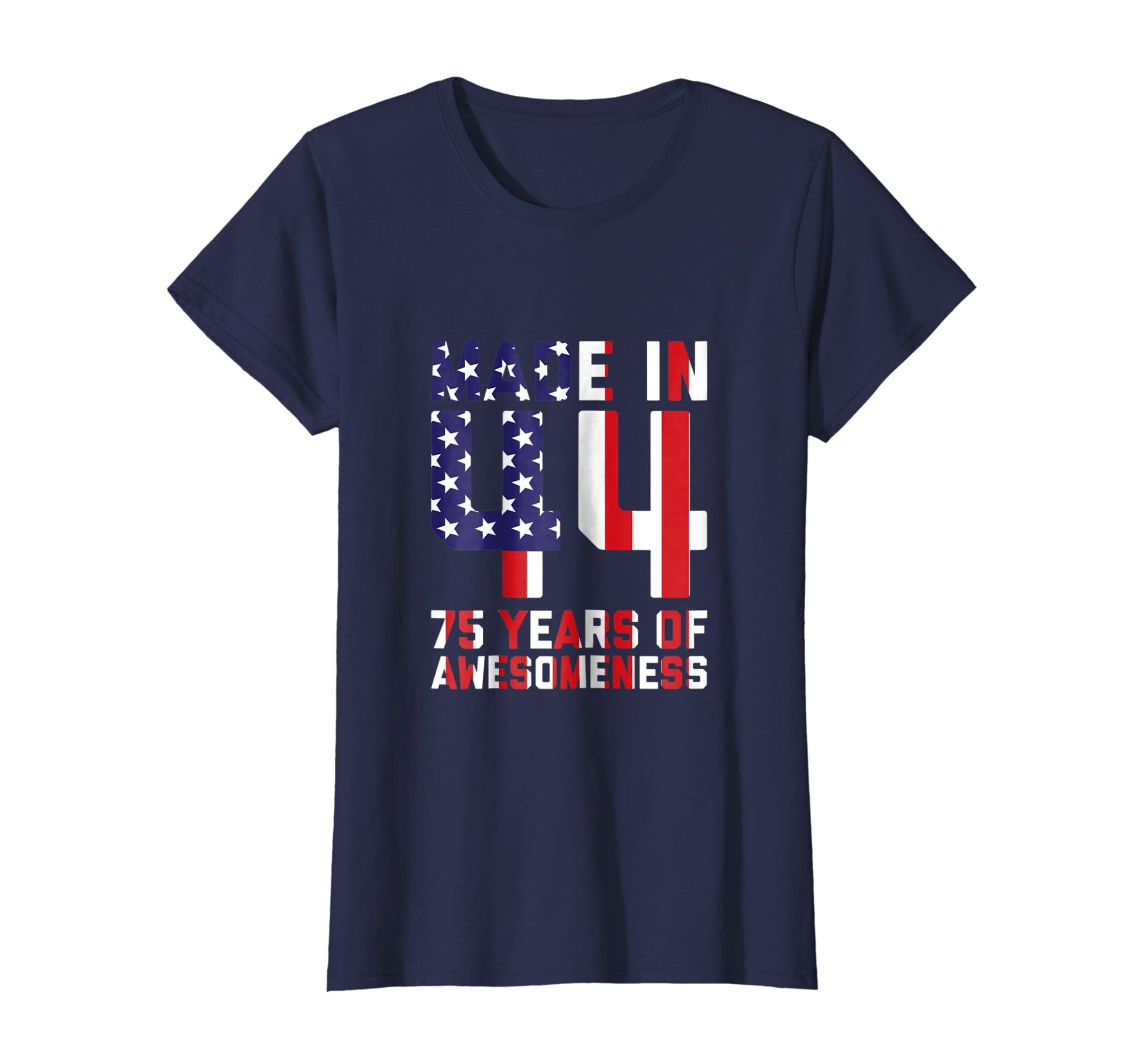 Amazon 75th Birthday Shirt For Men Gift 75 Year Old Grandpa Dad Clothing