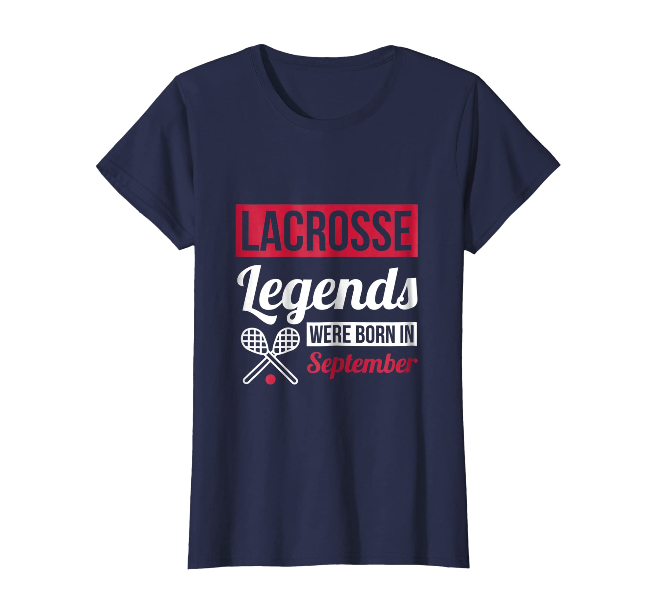 Amazon Lacrosse Legends Were Born In September Birthday Shirt Gift Clothing