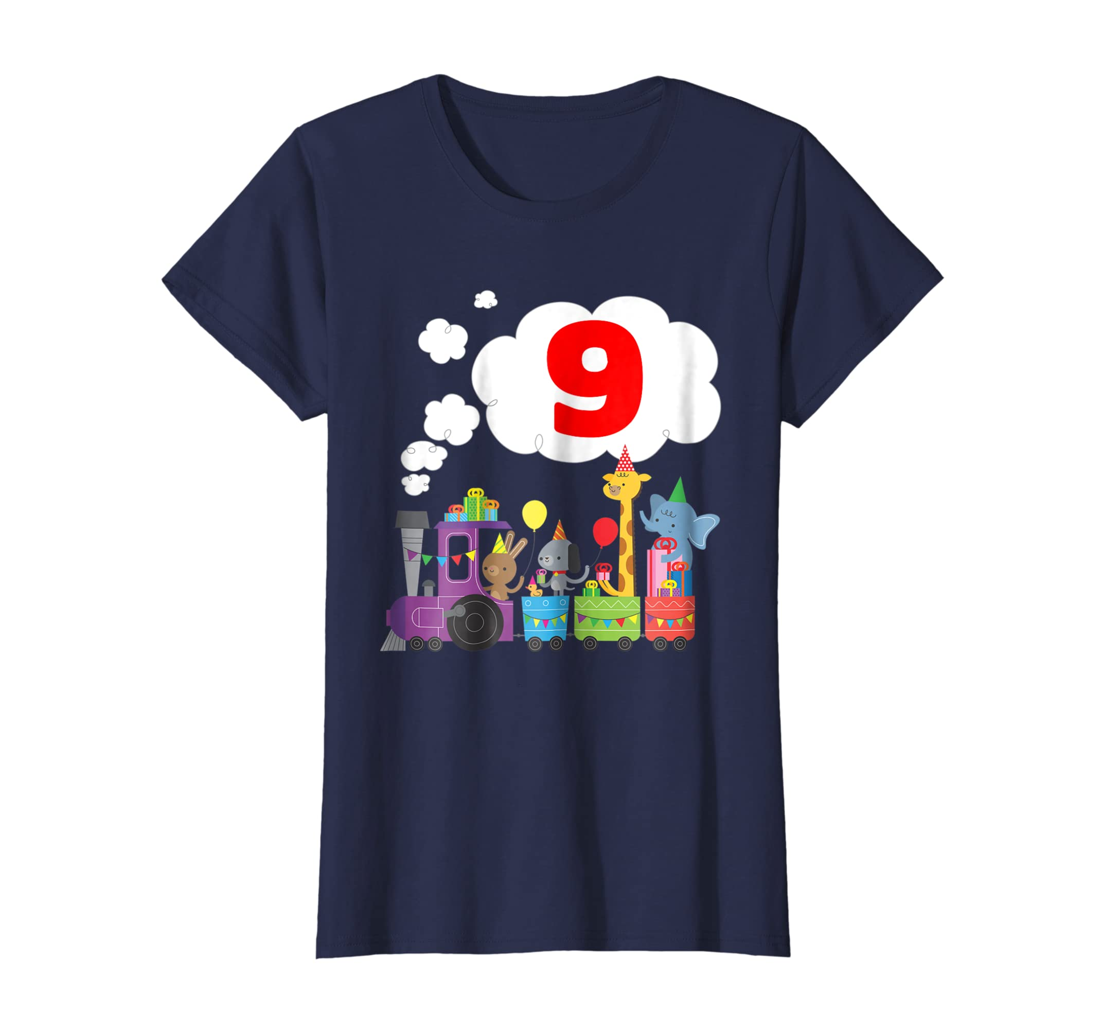 Amazon 9 Year Old Train Lovers Shirt Boys 9th Birthday Gift Nine Clothing