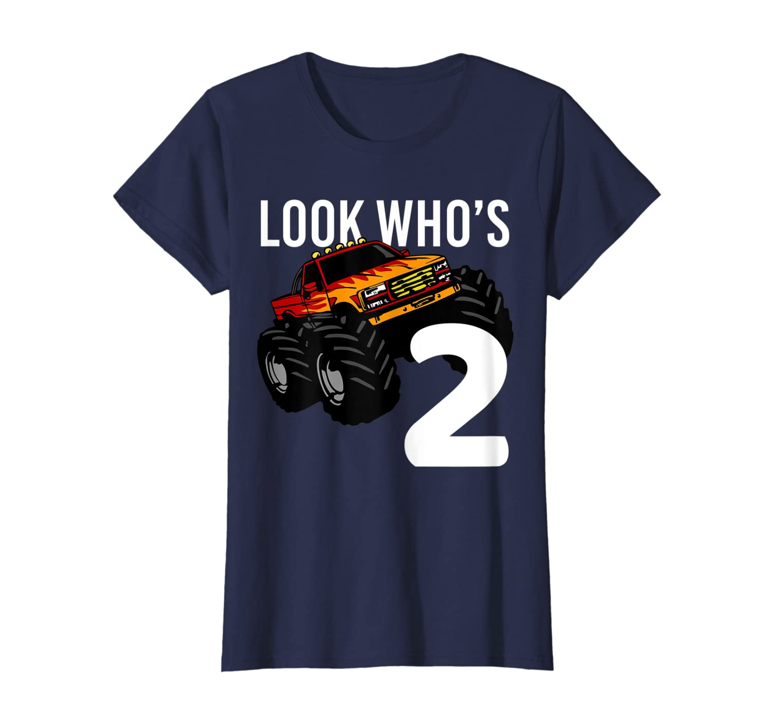 f33ae0318 Amazon.com: Monster Truck 2nd Birthday Shirt for Boys   2 year old Gift:  Clothing