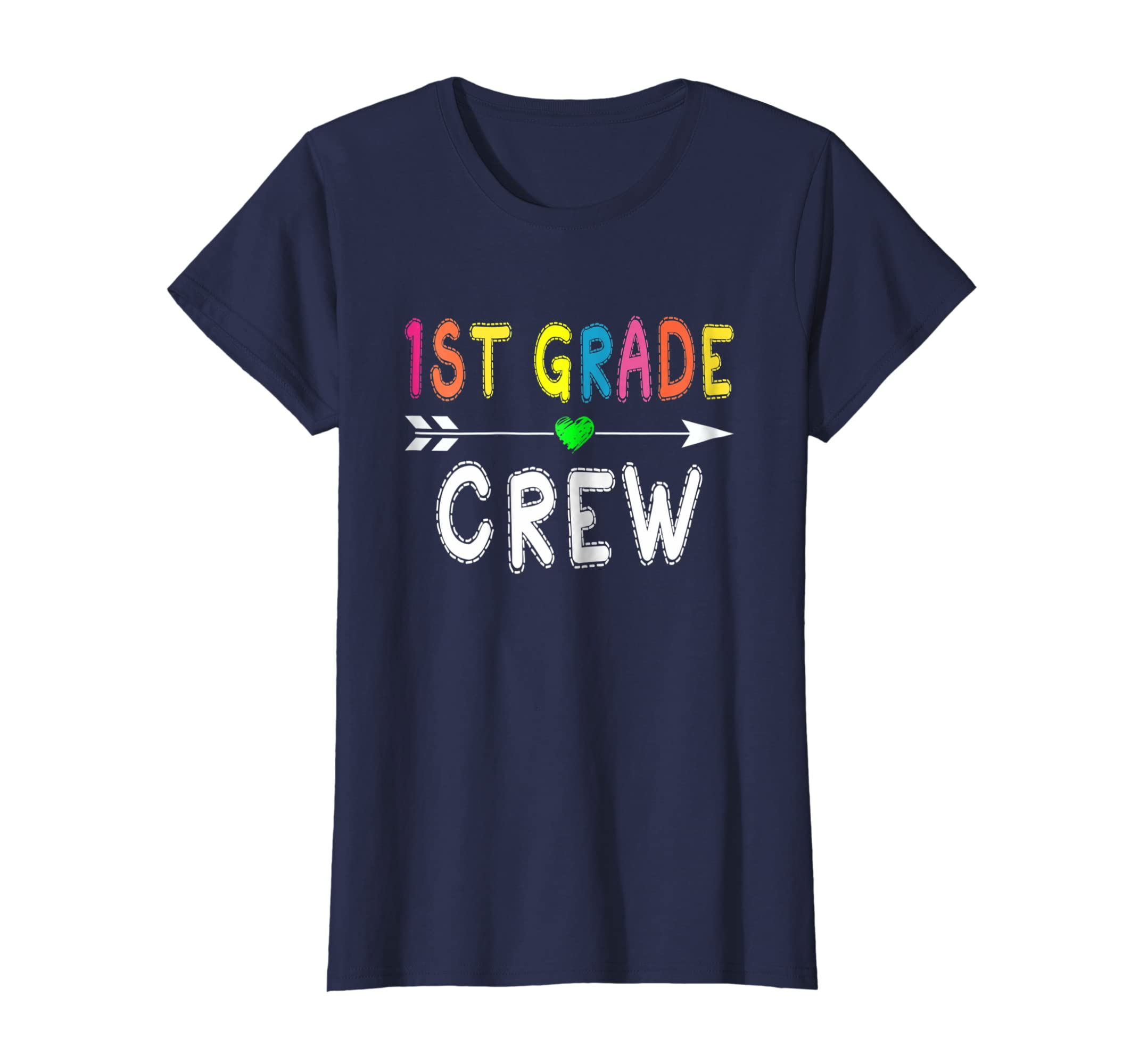 a1a0aaecb18 Amazon.com  1st Grade Crew For 1st Grade Teacher T Shirt Back To School   Clothing