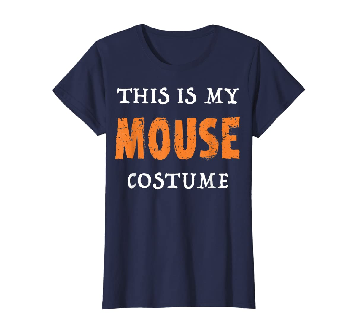 Funny This Is My Mouse Costume Halloween  T-Shirt-Women's T-Shirt-Navy