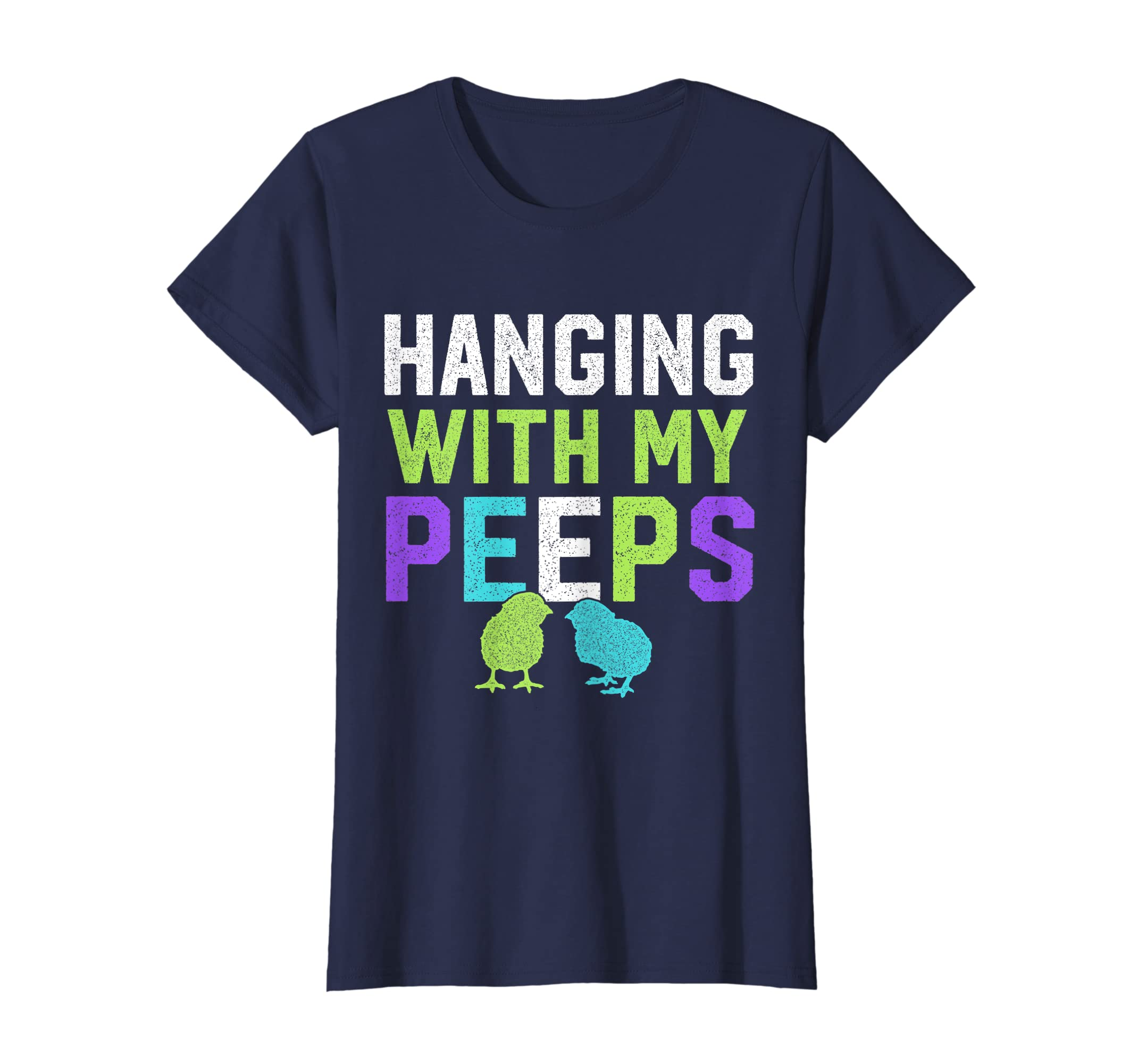4b0fc451 Amazon.com: Hanging With My Peeps Funny Easter T Shirt: Clothing